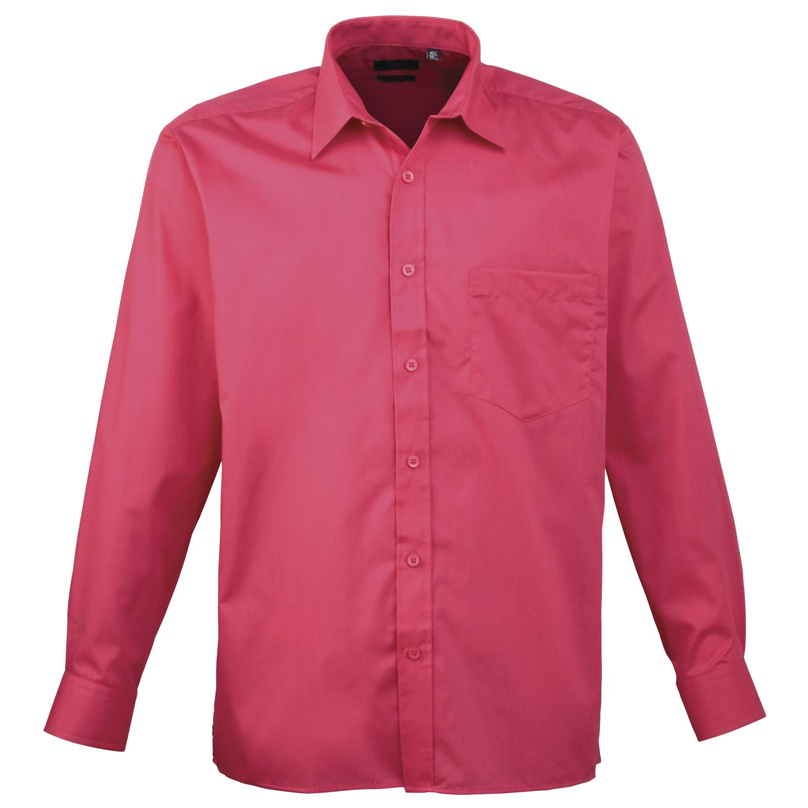 New premier mens business work smart long sleeve poplin for Long sleeve poplin shirt