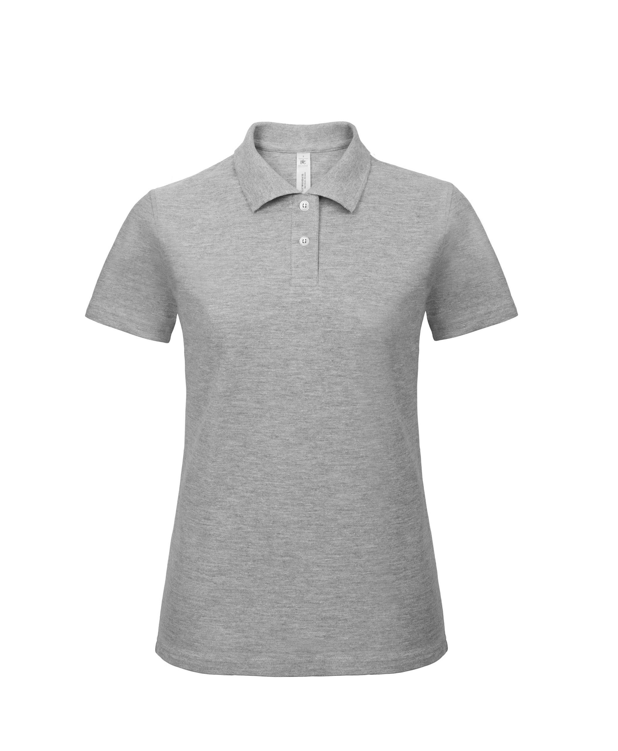 Womens b c collection casual short sleeved button up polo for Womens button up polo shirts