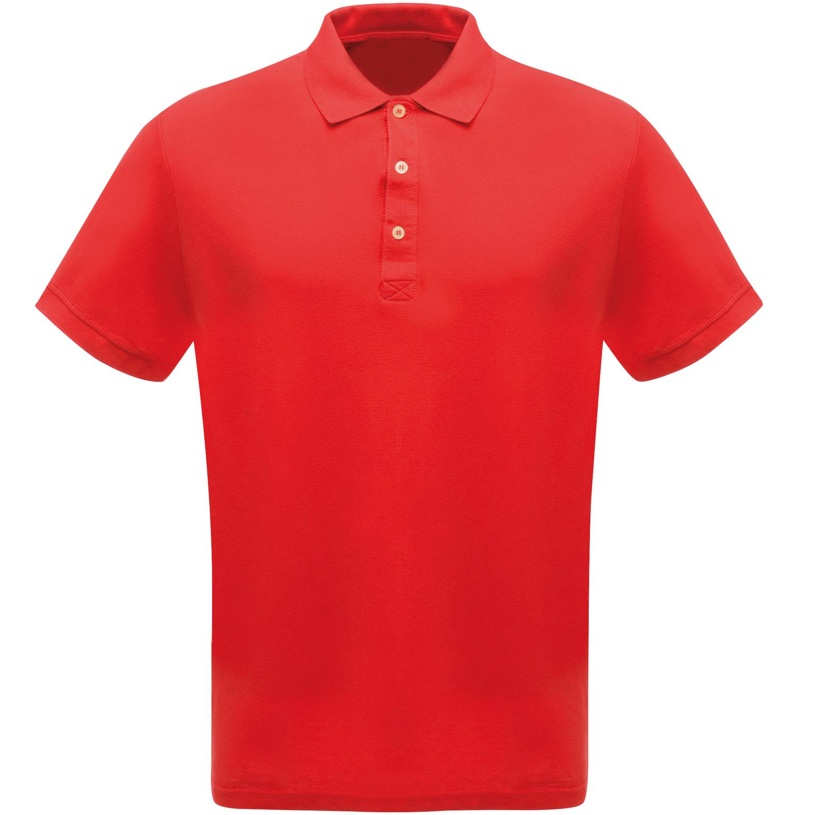 Mens regatta comfortable cotton pique collared classic for Mens xs golf shirts