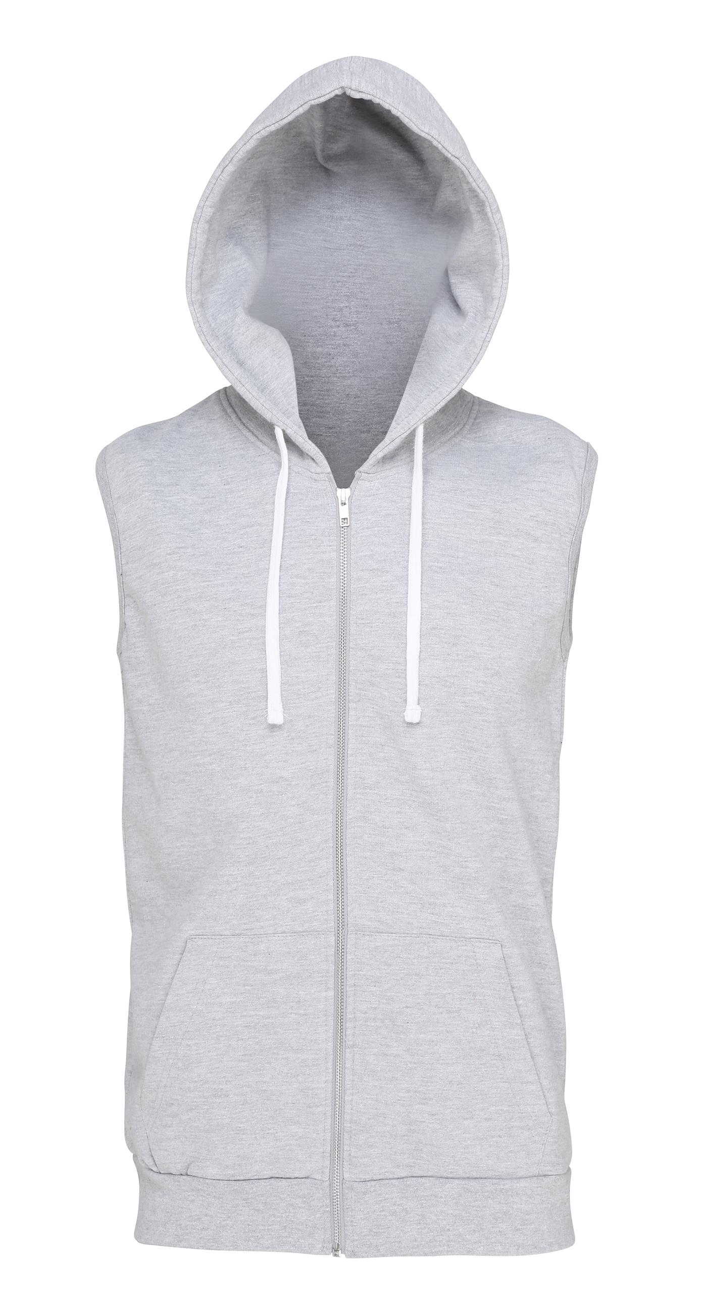 New Mens AWDis Hoods Drawcord Full Zip Sleeveless Casual Hooded Tops Size S-XXL
