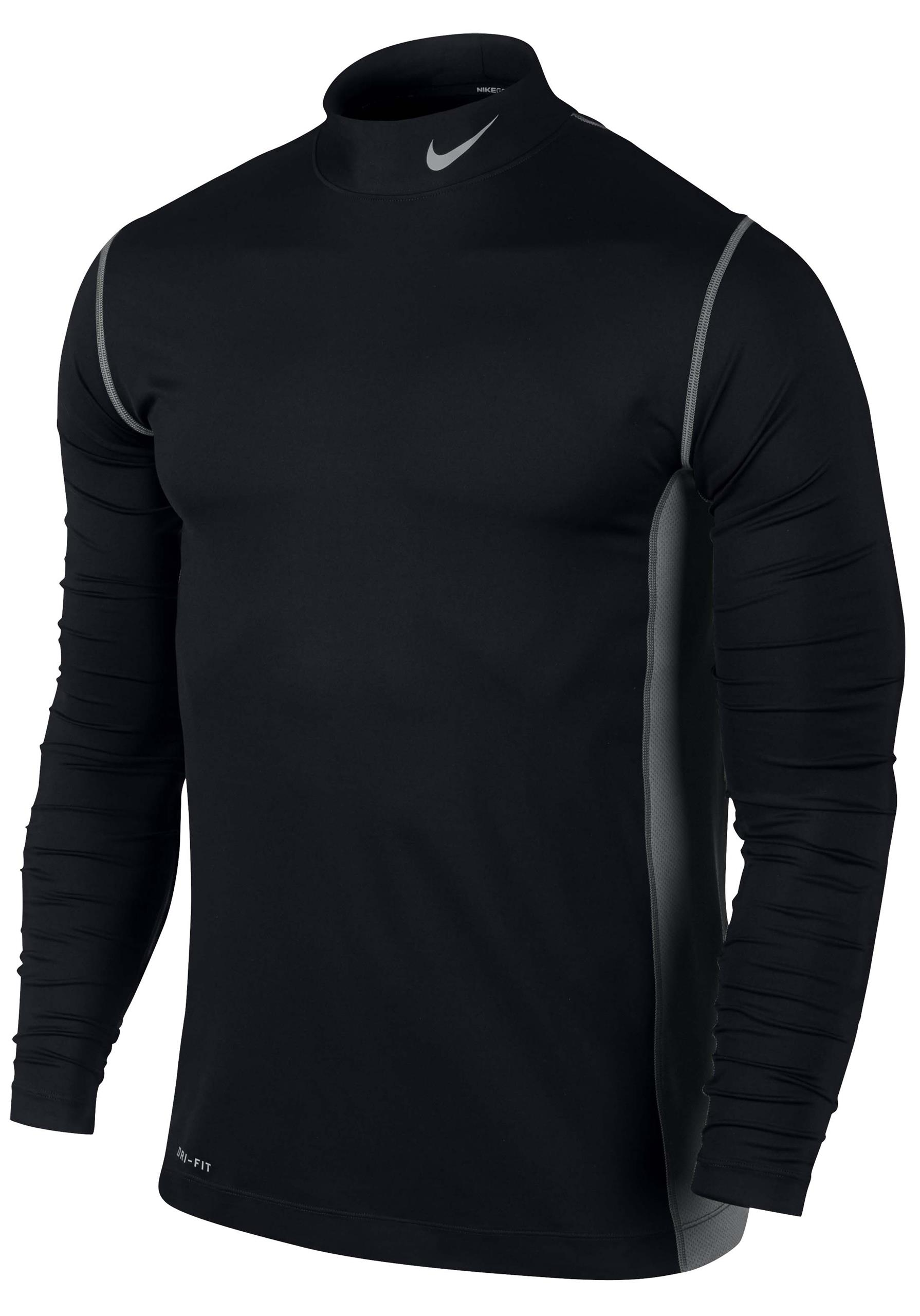 New mens nike dri fit high neck long sleeved lightweight for Under armour dri fit long sleeve shirts