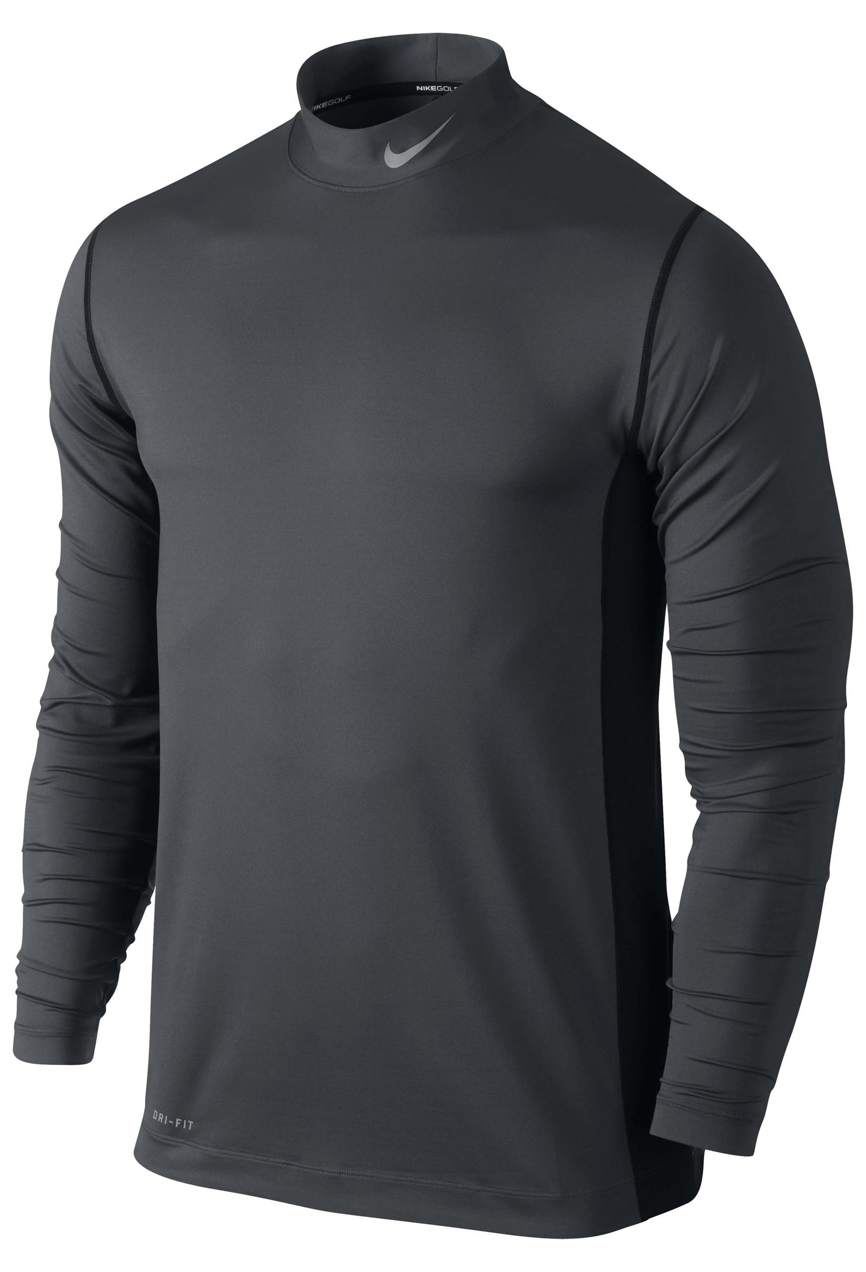 New Mens Nike Dri Fit High Neck Long Sleeved Lightweight