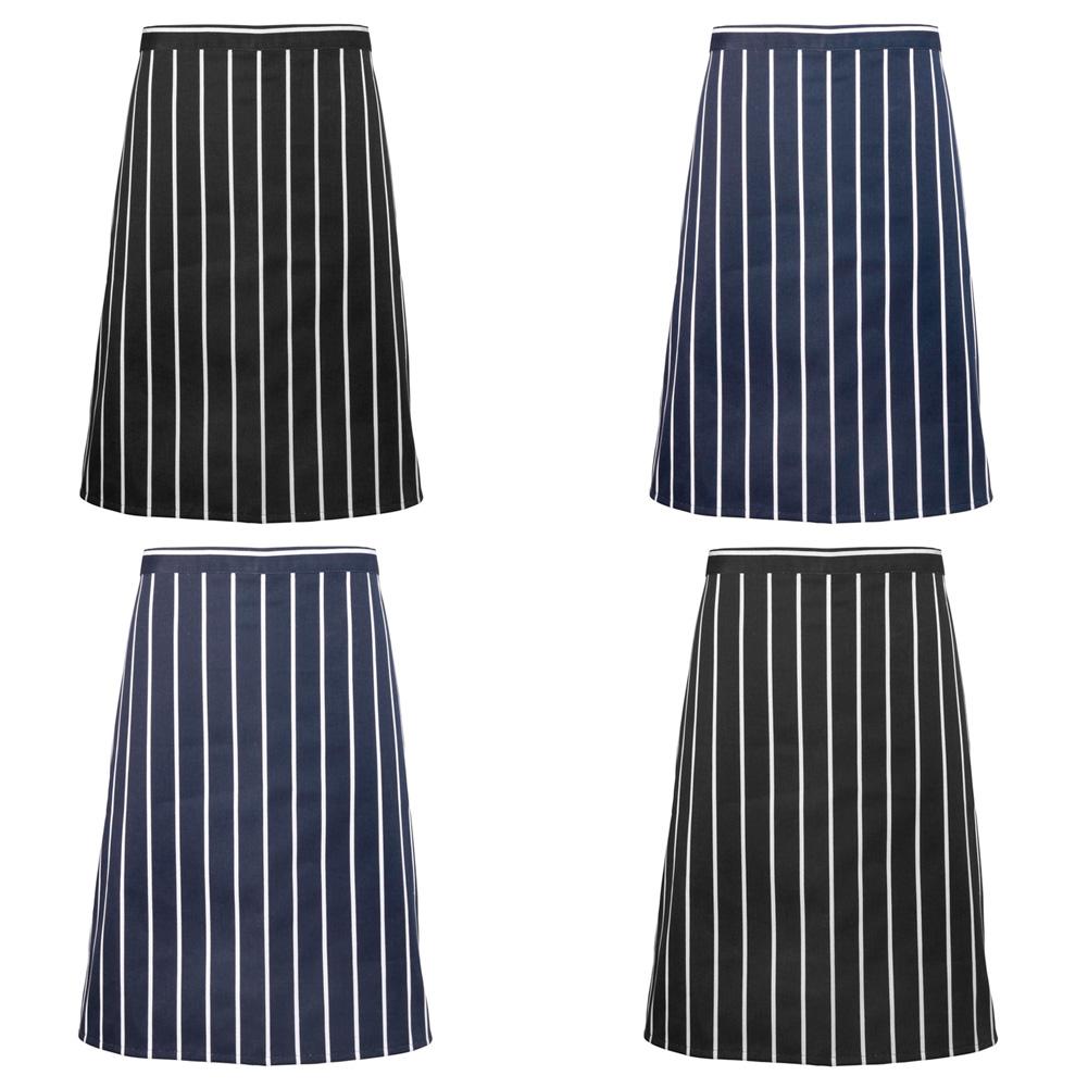 White half apron ebay - New Mens Premier Classic Stripes Butcher Style Half Apron One Size In 2 Colours