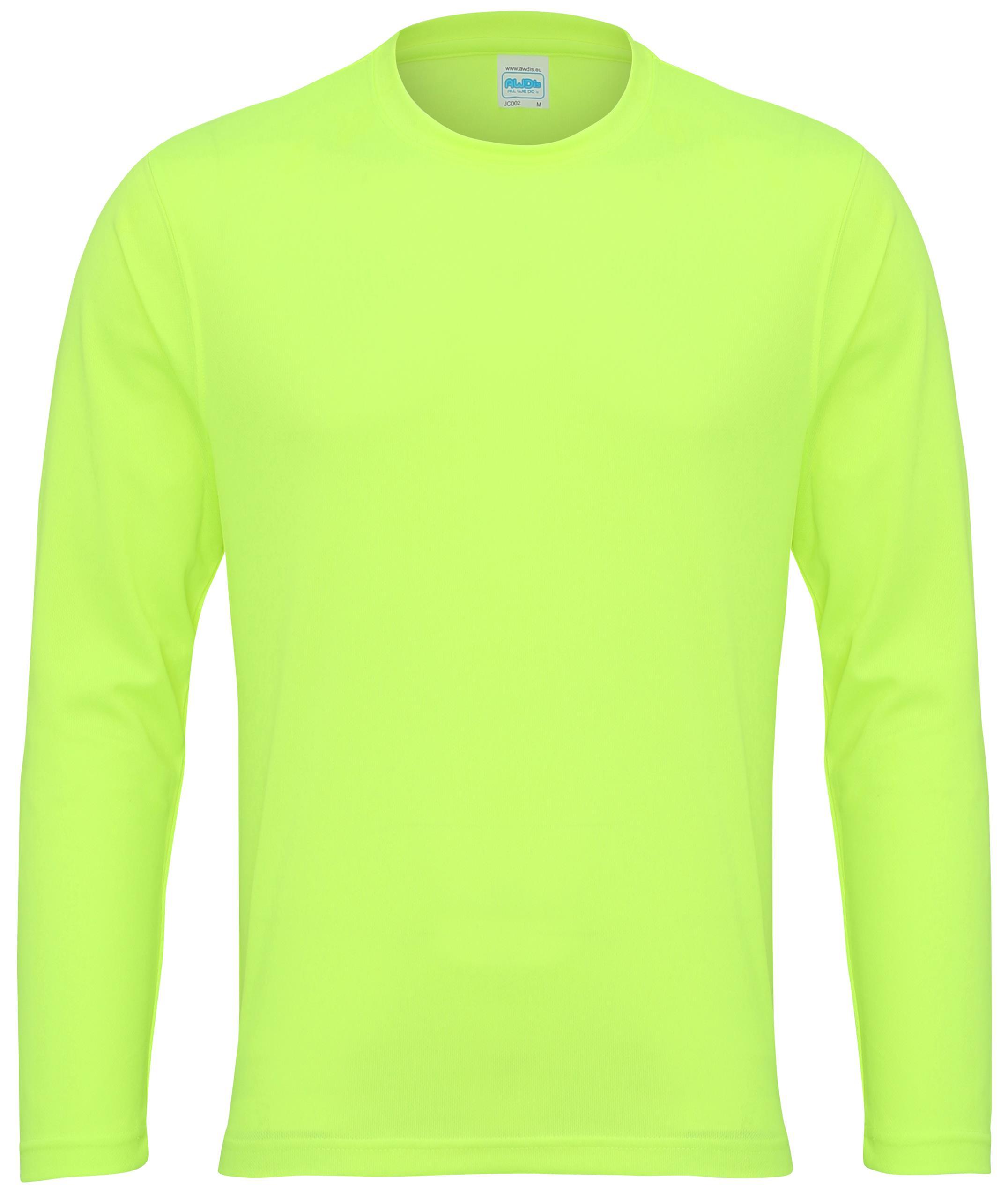 Men 39 s awdis cool long sleeve t shirt crew neck set in for Cool long sleeve t shirts