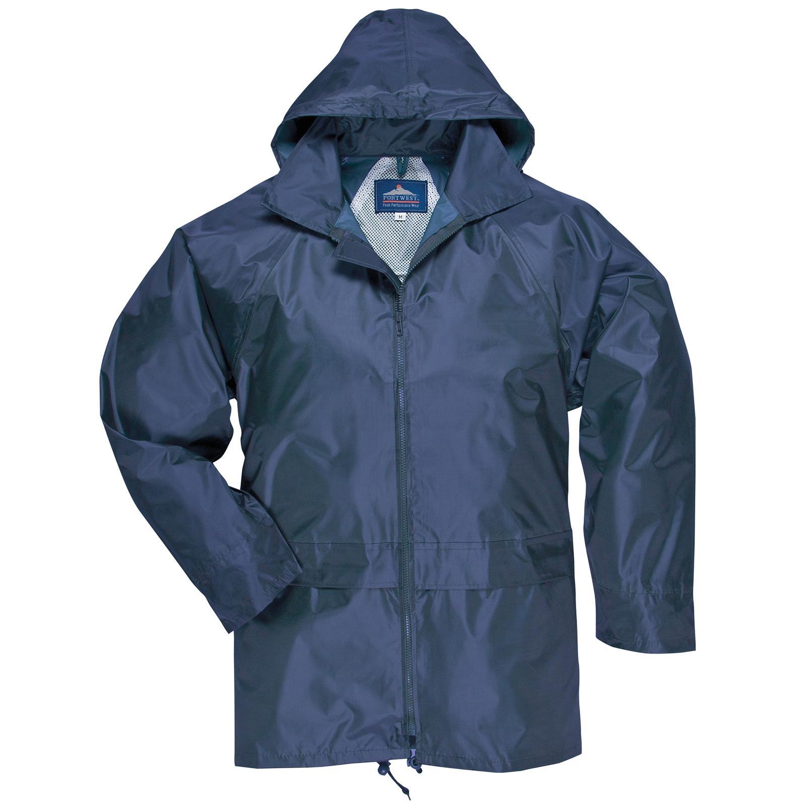 New PORTWEST Mens Womens Classic Rain Waterproof Jacket S M L XL