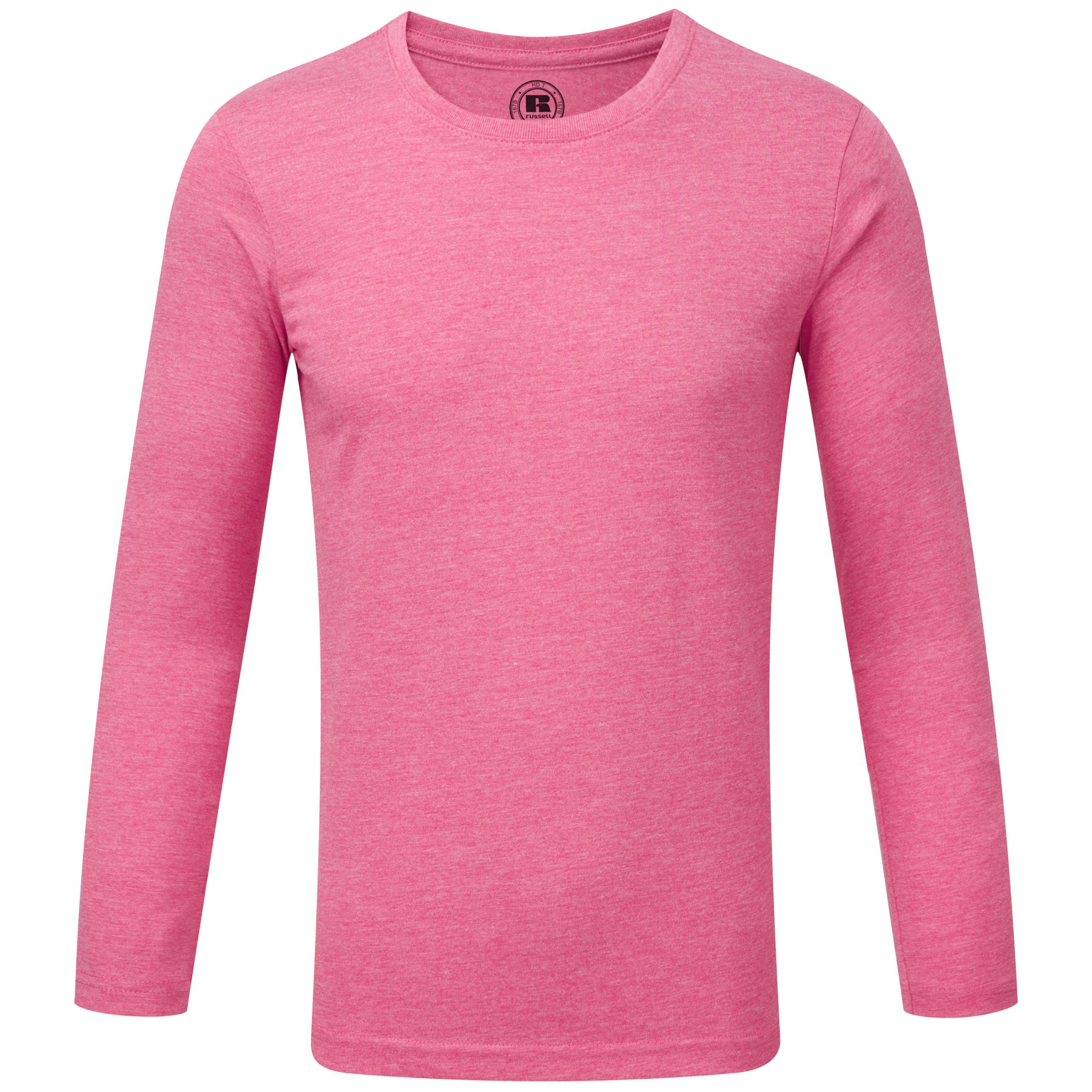 New Boys Russell Comfortable Crew Neck Long Sleeve HD T-Shirt Size 5//6-13//14 YRS