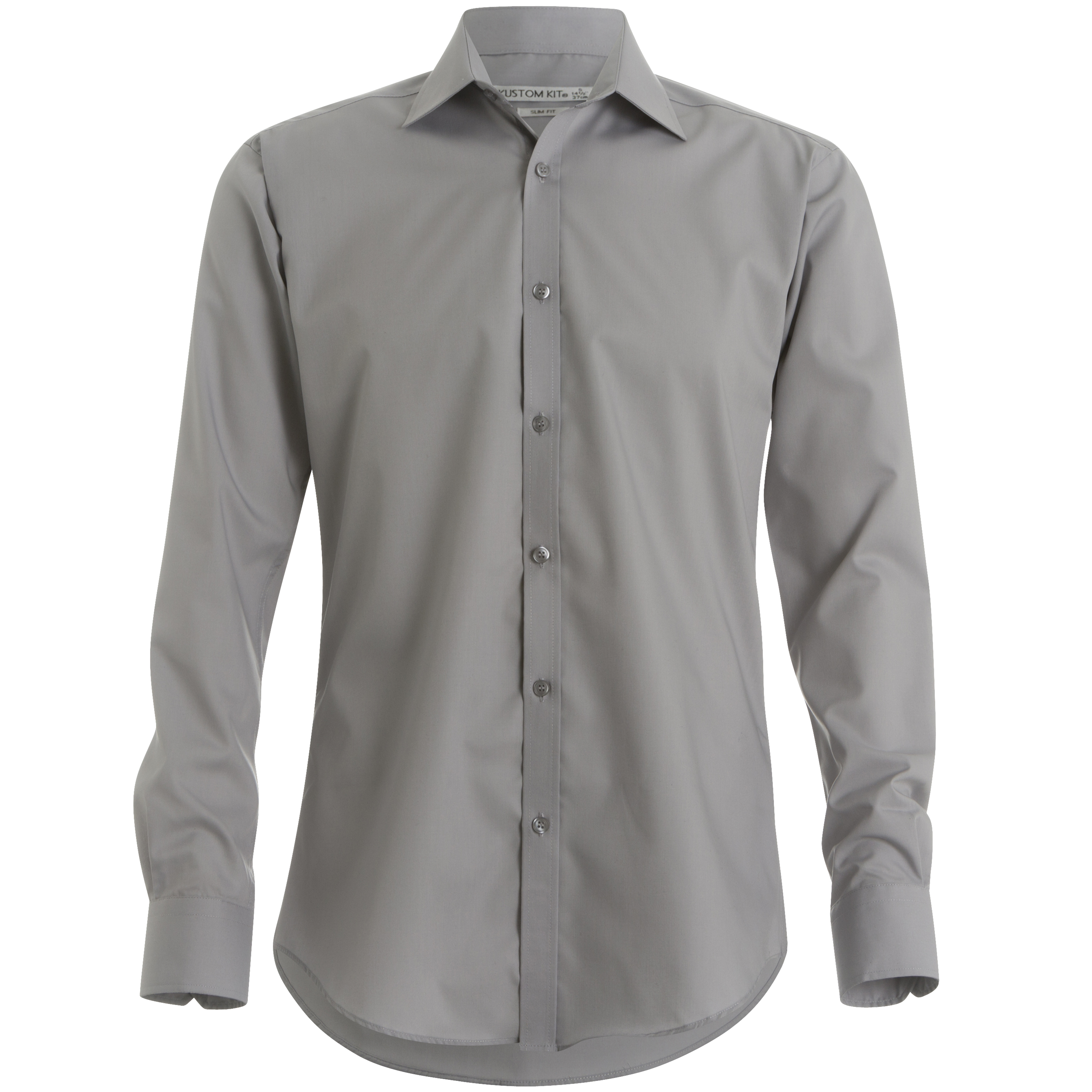 Kustom kit mens slim fit long sleeved collared business for Mens slim fit formal shirts uk