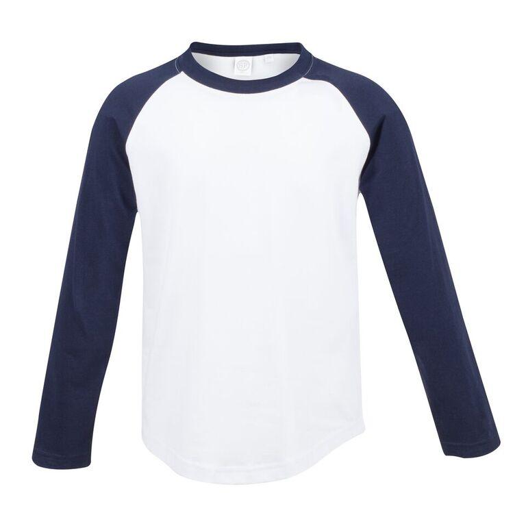 Kid/'s SF Mini Crew Neck Raglan Long Sleeved Baseball T-Shirt Size 5//6-11//12 YRS