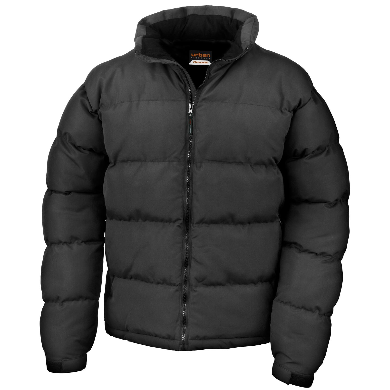 New RESULT Mens Urban Holkham Down Feel Puffer Jacket in Black ...
