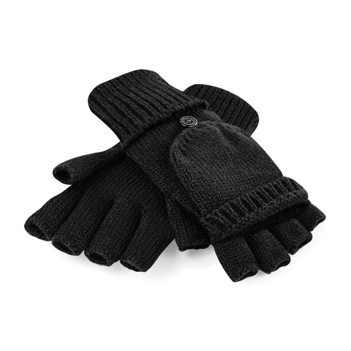New Womens Beechfield Fingerless or Mitten Design Open Tip Thumb Size S//M L//XL