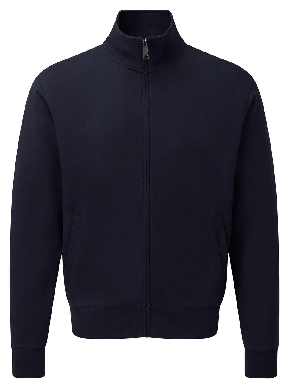 New Mens Russell Self Fabric Full Zipped Authentic Sweatshirt Jacket Size XS-3XL