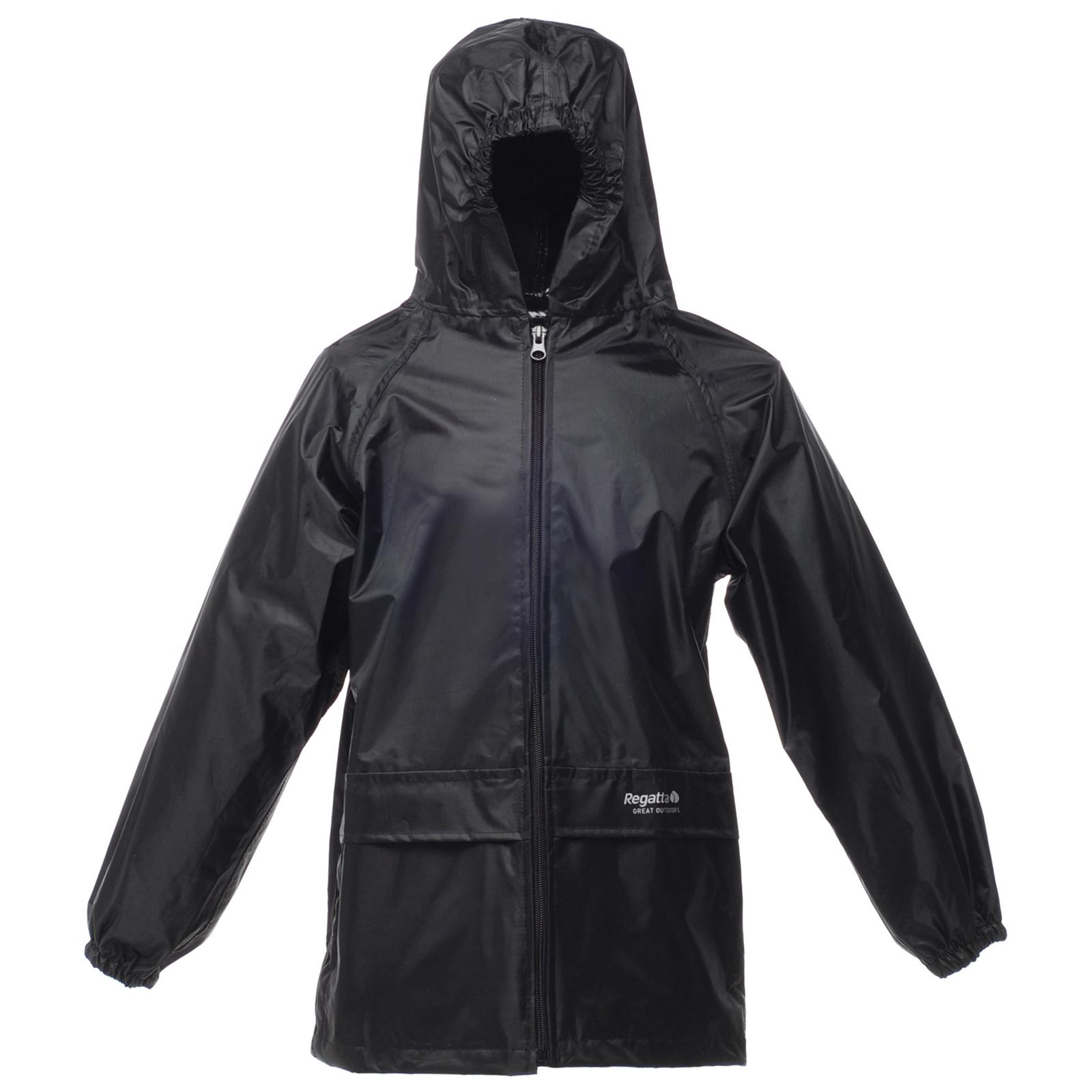 New REGATTA Childrens Kids Stormbreak Waterproof Rain Jacket Black ...
