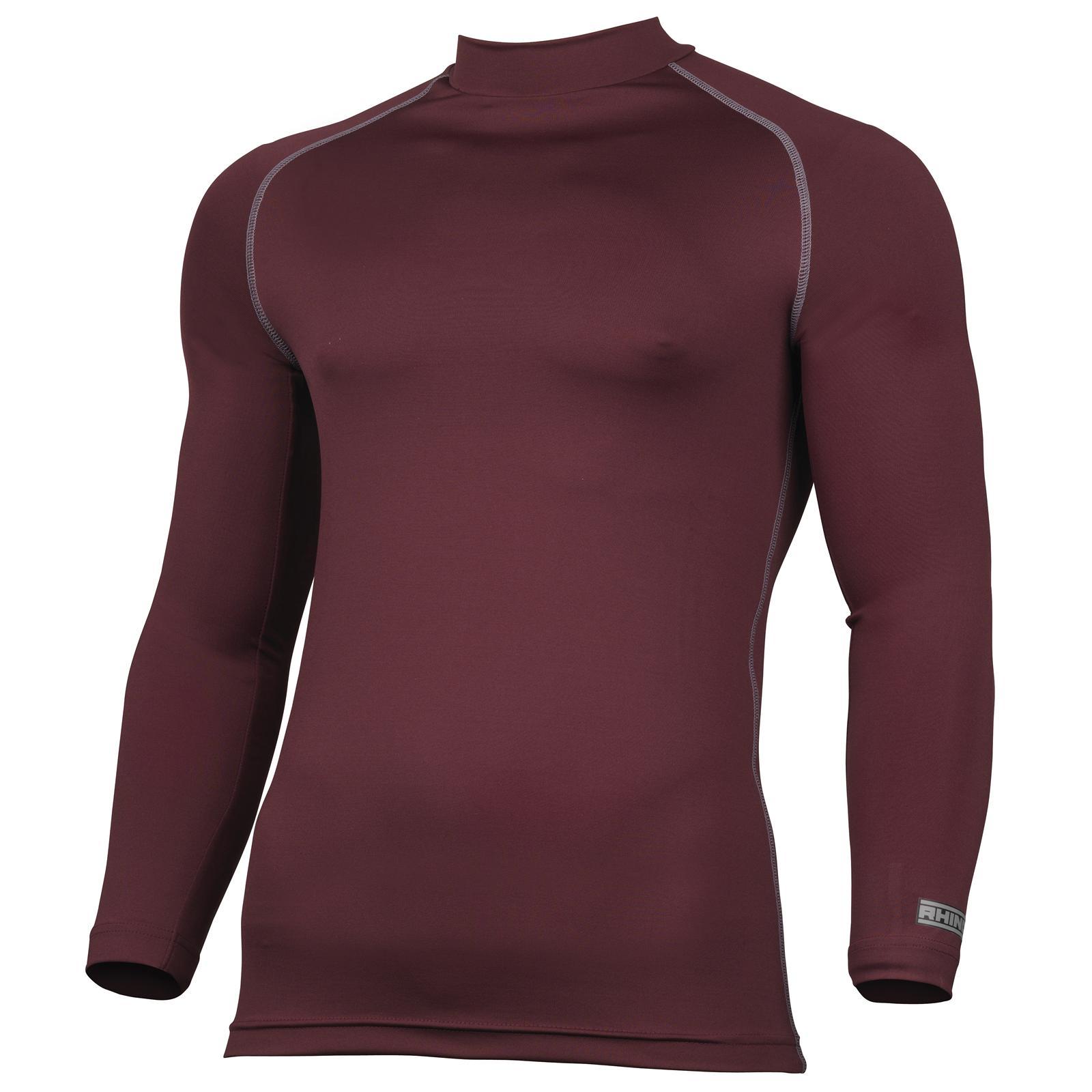 New-RHINO-Unisex-Adults-Sports-Long-Sleeve-Base-Layer-T-Shirt-16-Colours-5-Sizes