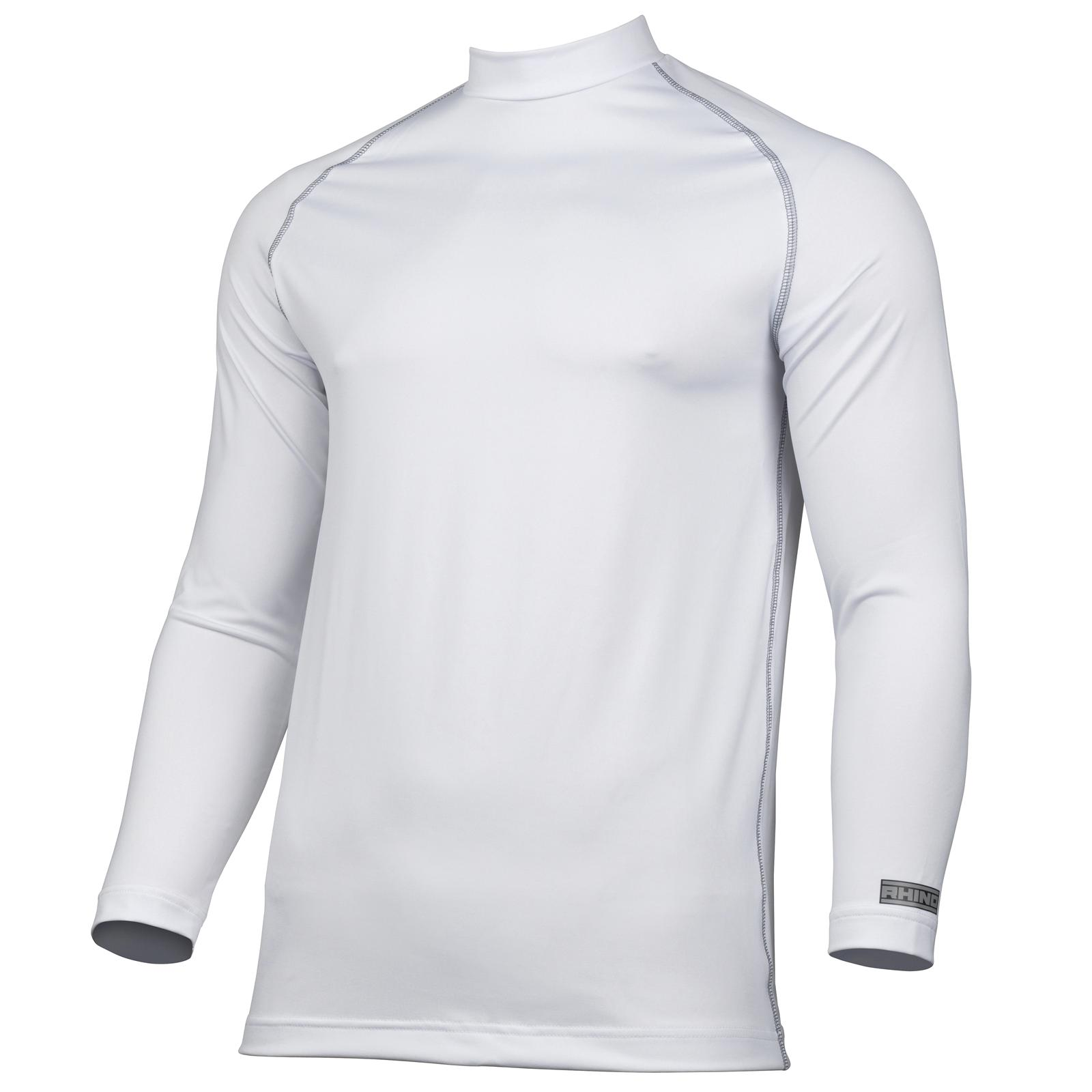 T shirt white colour - New Rhino Unisex Adults Sports Long Sleeve Base