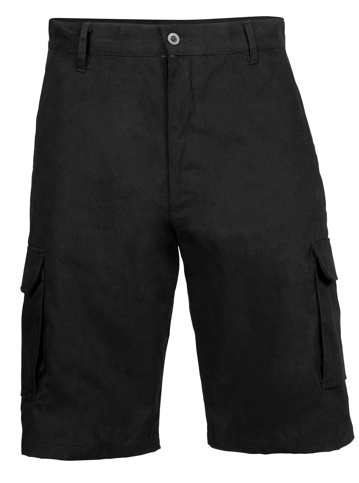 new rty mens work wear cotton casual cargo shorts in black