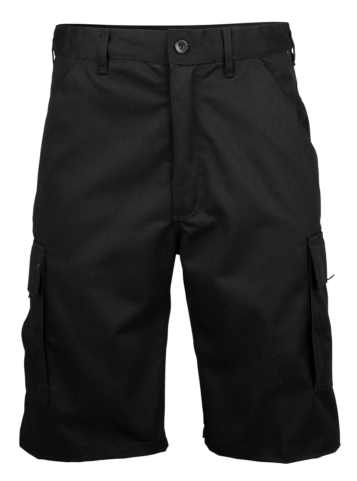New RTY Mens Work Wear Polycotton Casual Cargo Shorts in Black ...
