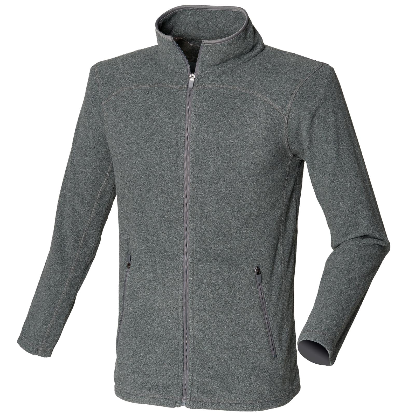 New SKINNI FIT Mens Casual Fitted Micro Fleece Jacket in 3 Colours