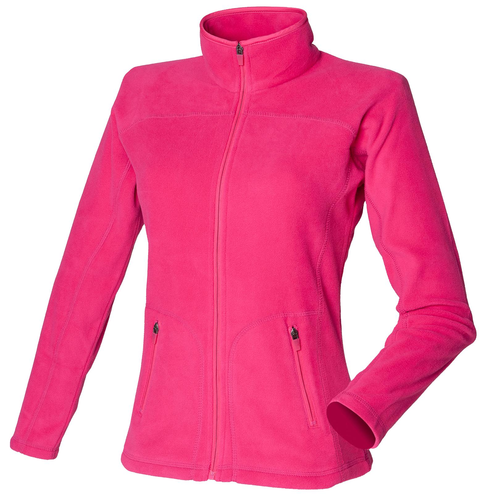 New SKINNI FIT Womens Ladies Fitted Micro Fleece Jacket in 3