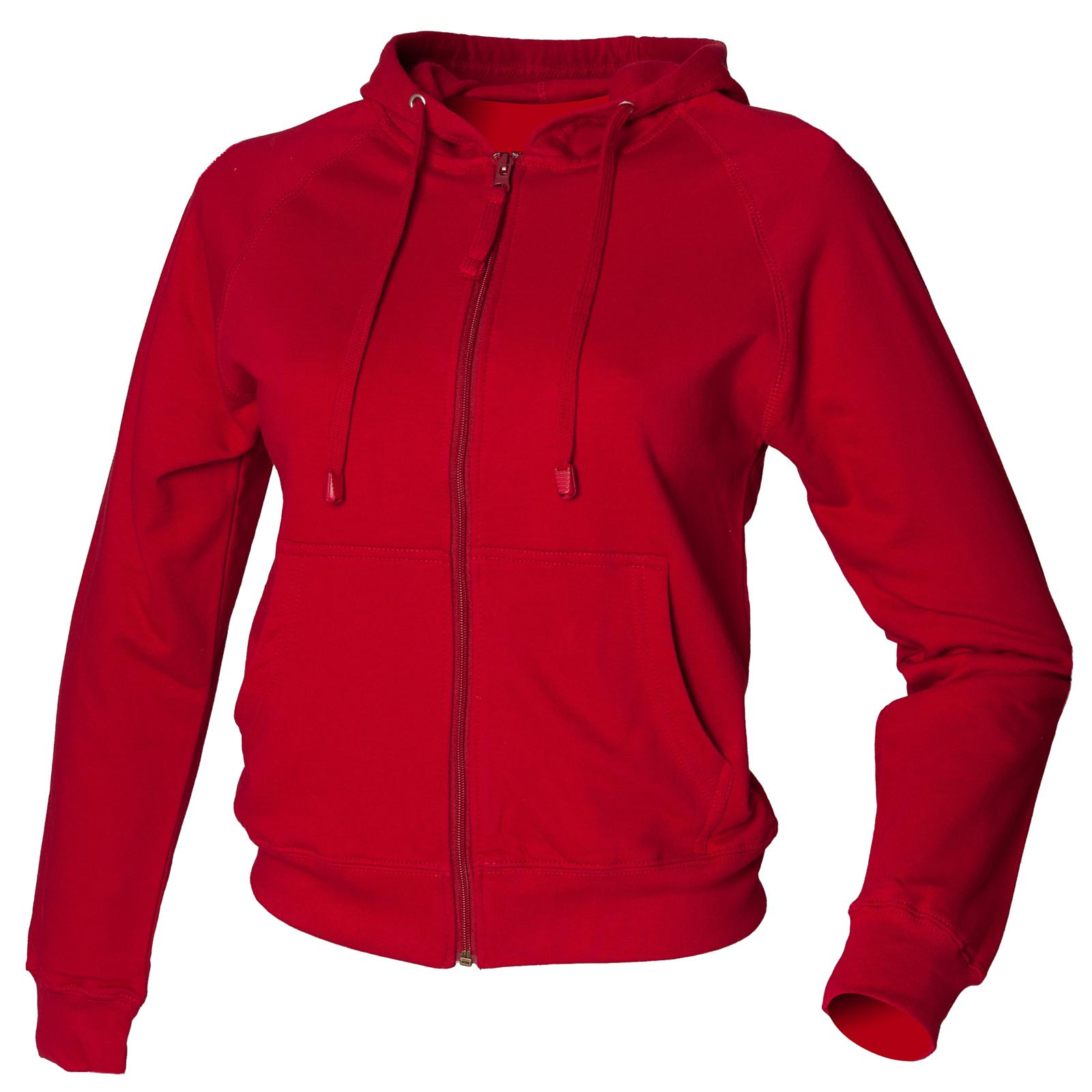 New SKINNI FIT Womens Ladies Cotton Zip Up Hoodie Jacket in 7 Colours S - XL