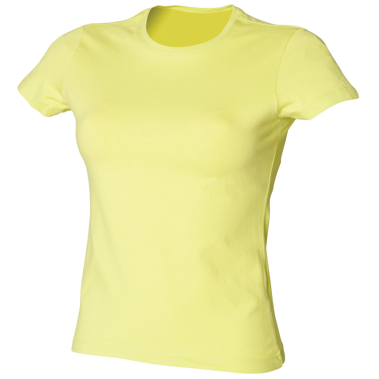 New-SKINNI-FIT-Womens-Ladies-Stretch-Fitted-Crew-T-Shirt-in-25-Colours-S-XXL