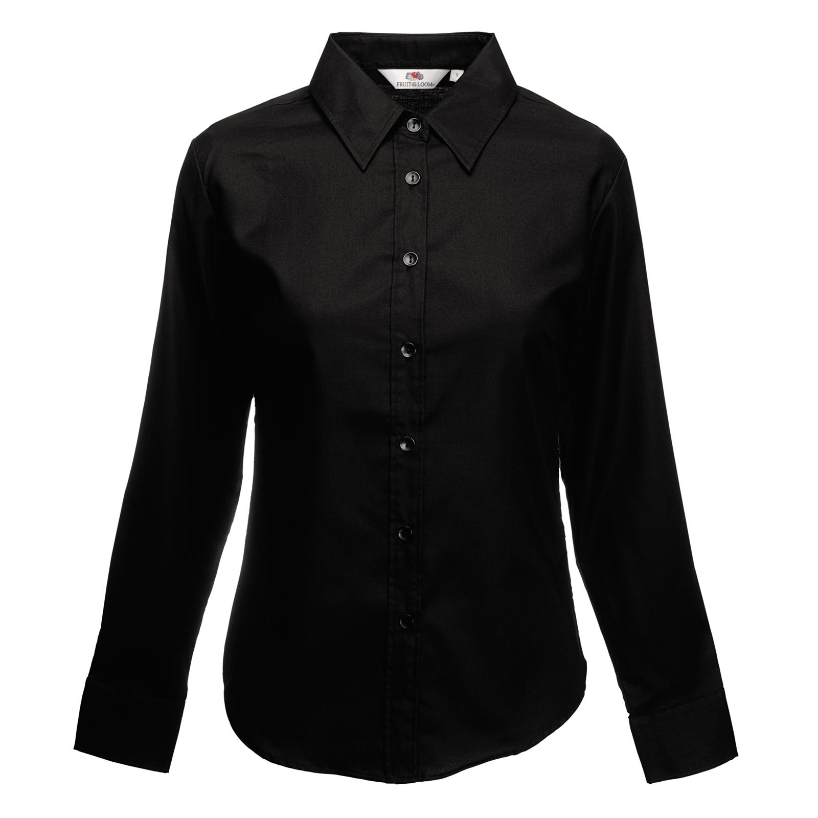 New fruit of the loom womens lady fit oxford long sleeve for Womans long sleeve shirts