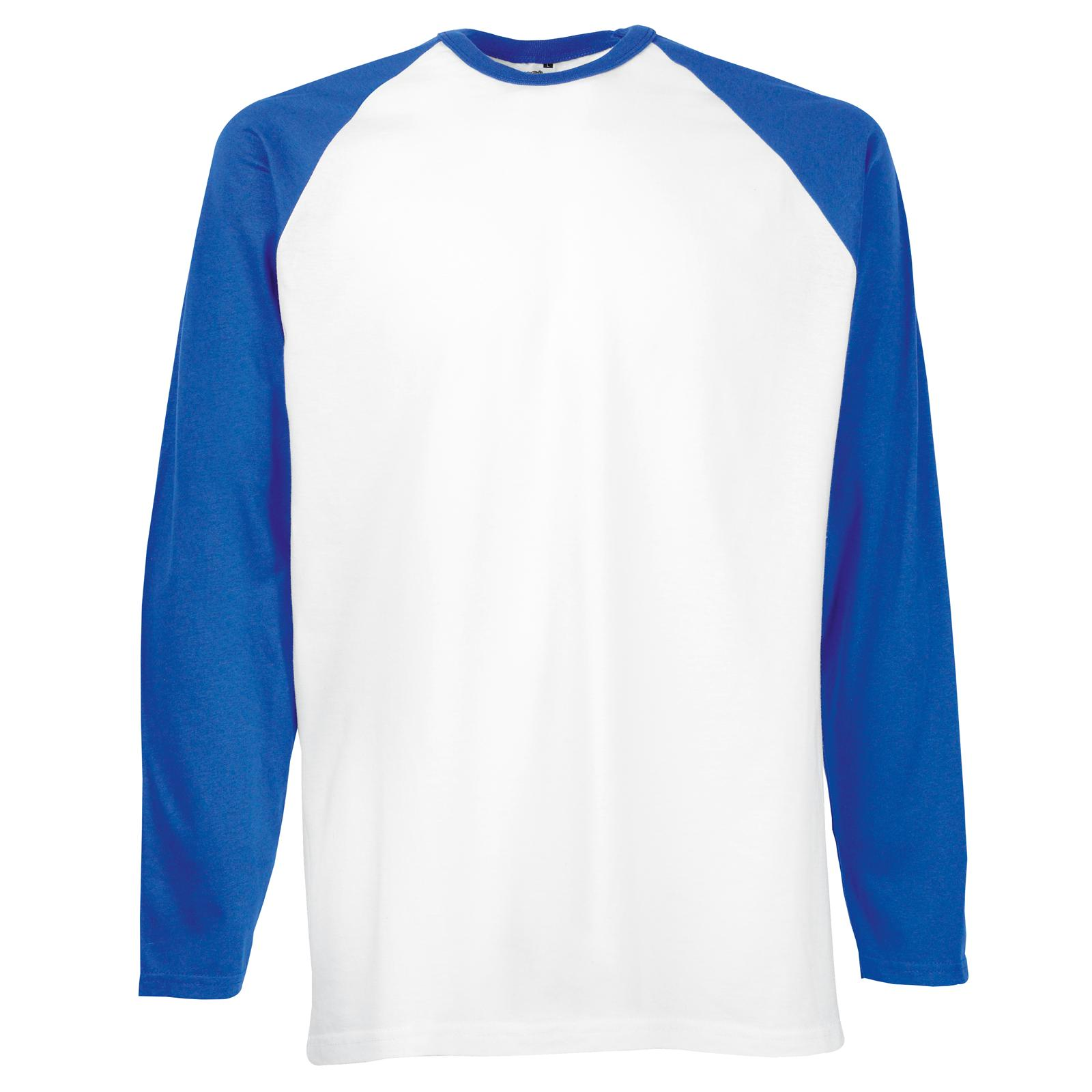 New fruit of the loom mens long sleeve cotton baseball t for Xxl long sleeve t shirts