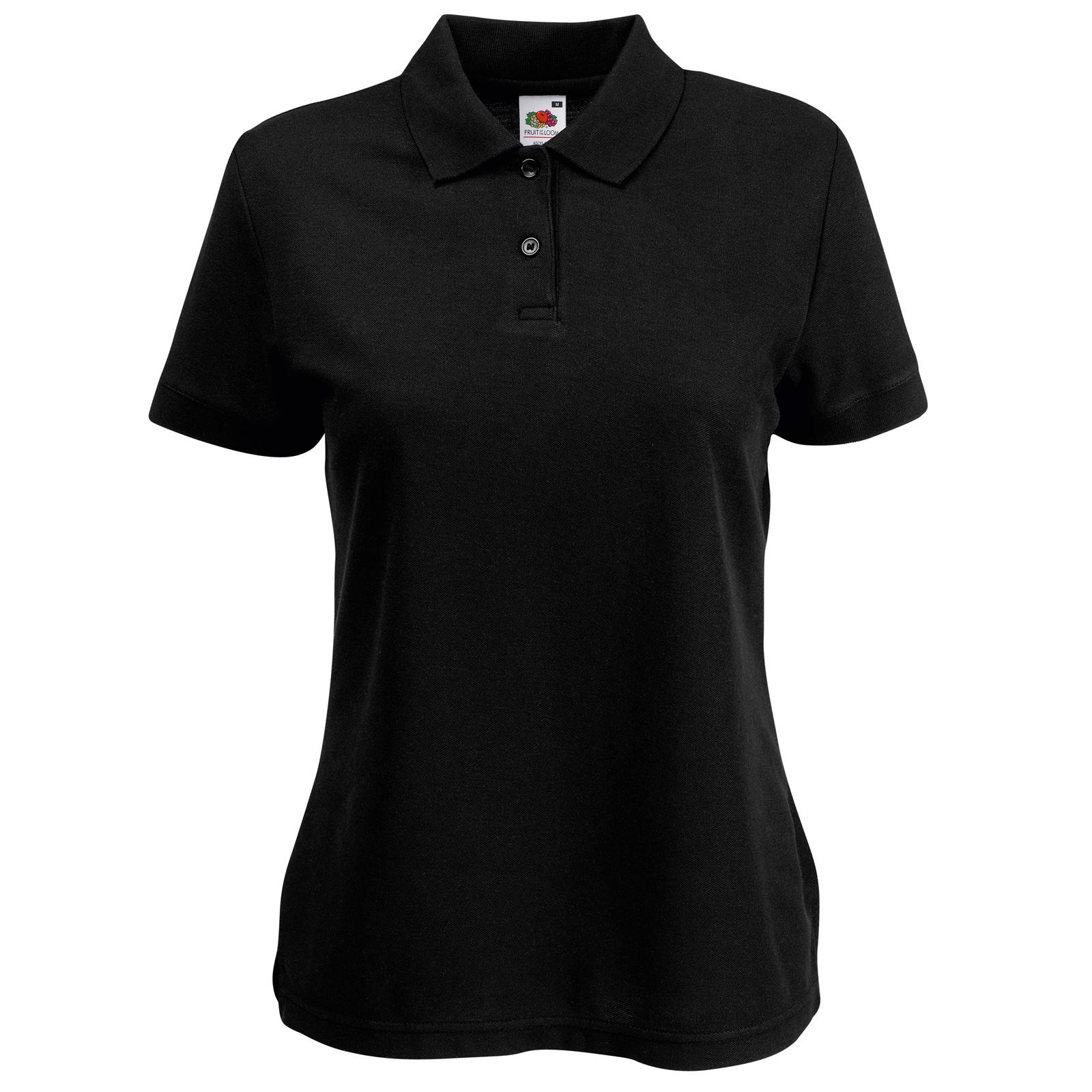 new fruit of the loom womens fitted polycotton polo shirt 10 colours xs xxl ebay. Black Bedroom Furniture Sets. Home Design Ideas