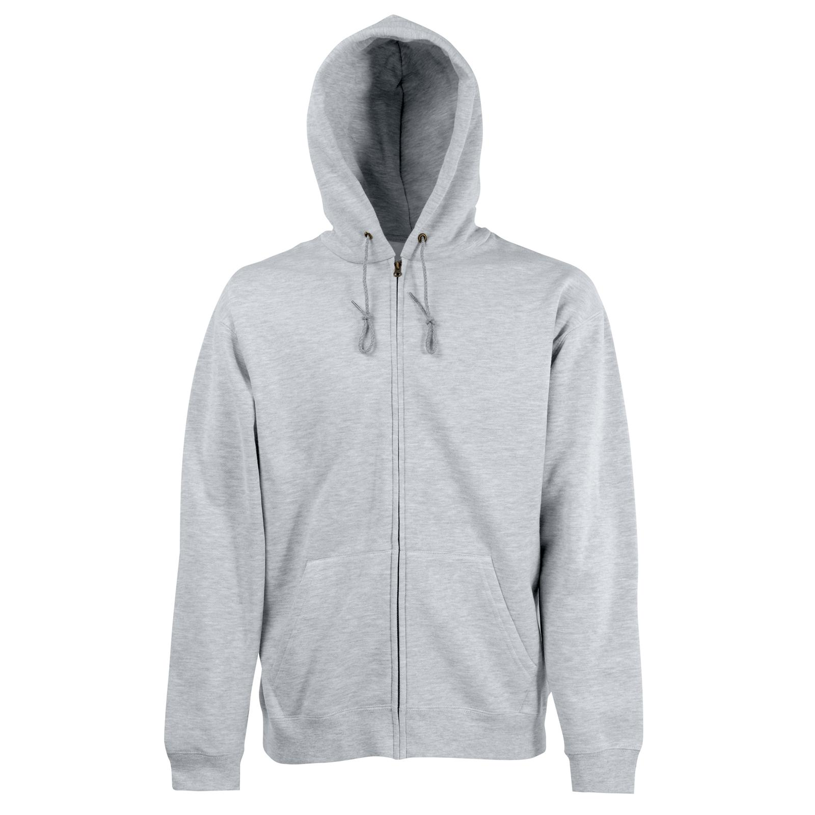 new fruit of the loom mens zip hoodie sweatshirt jacket in 8 colours s xxl ebay. Black Bedroom Furniture Sets. Home Design Ideas