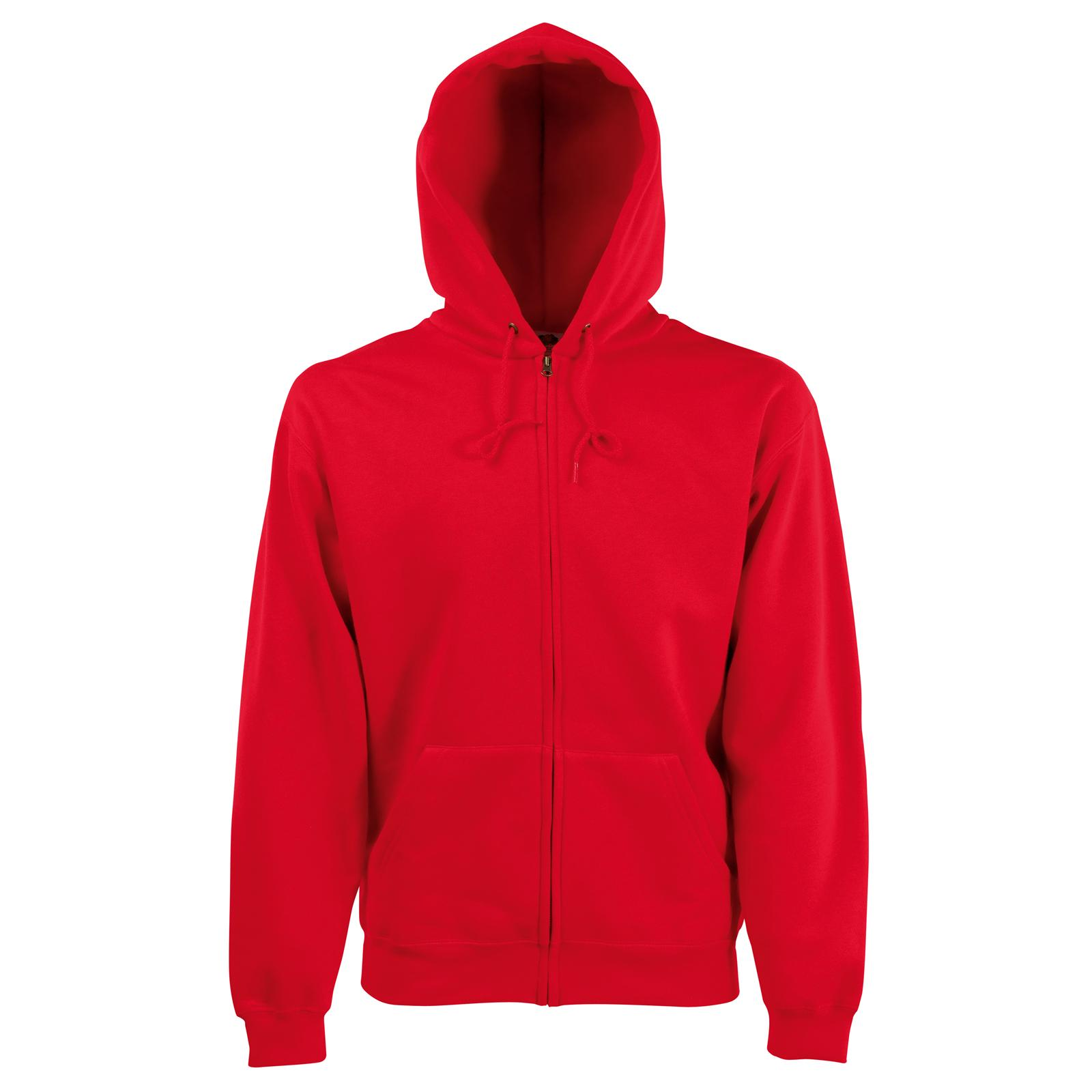 new fruit of the loom mens zip hoodie sweatshirt jacket in 8 colours s xxl ebay. Black Bedroom Furniture Sets. Home Design Ideas
