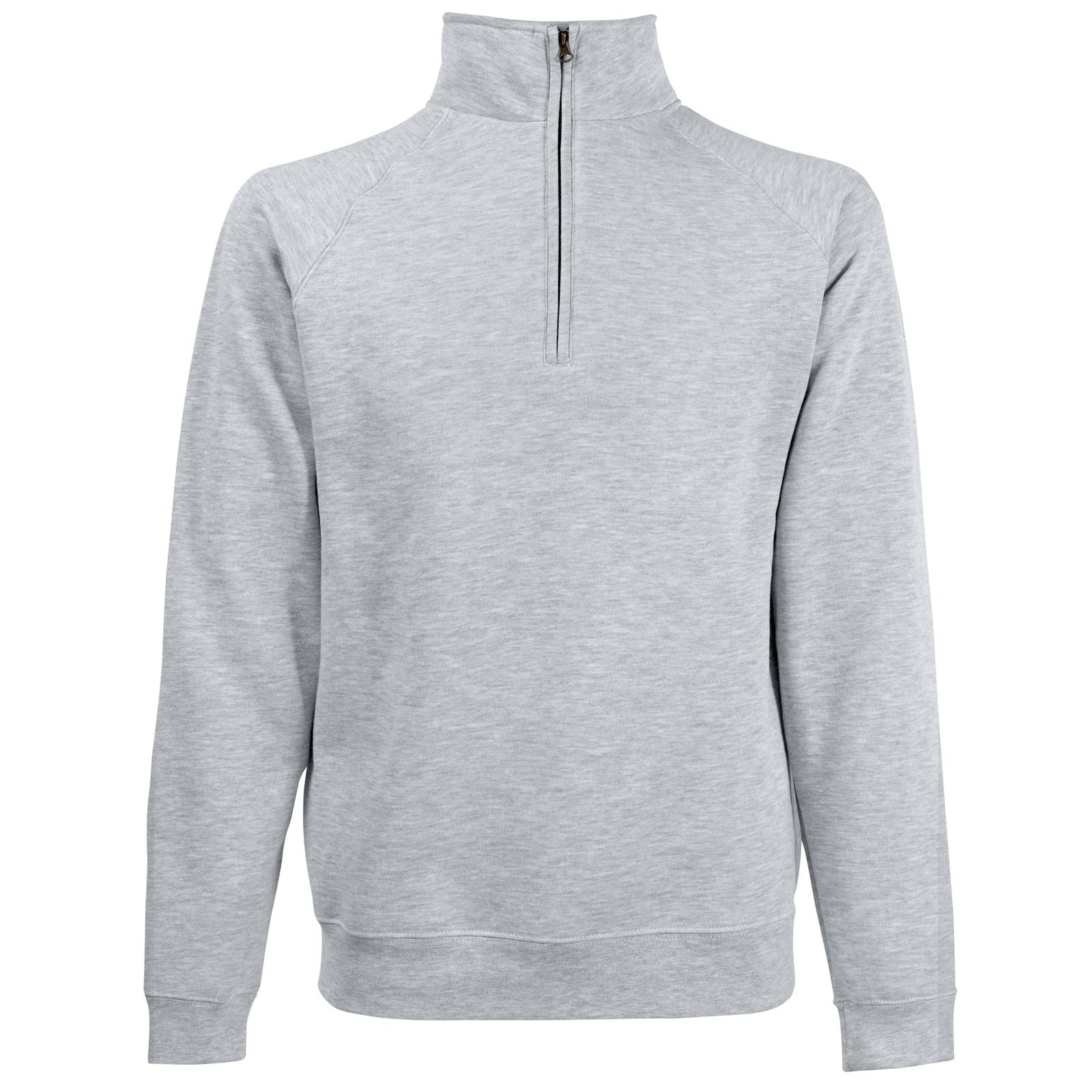 New Fruit of the Loom Mens 1/2 Half Zip Neck Sweatshirt in 7 ...