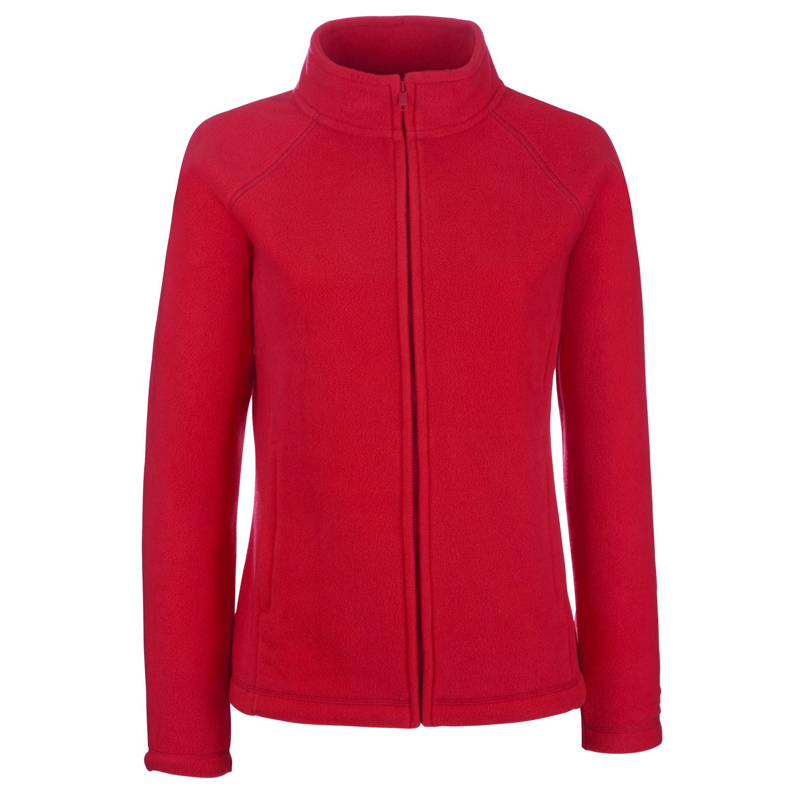 New Fruit of the Loom Womens Ladies Fitted Zip Fleece Jacket 5 ...