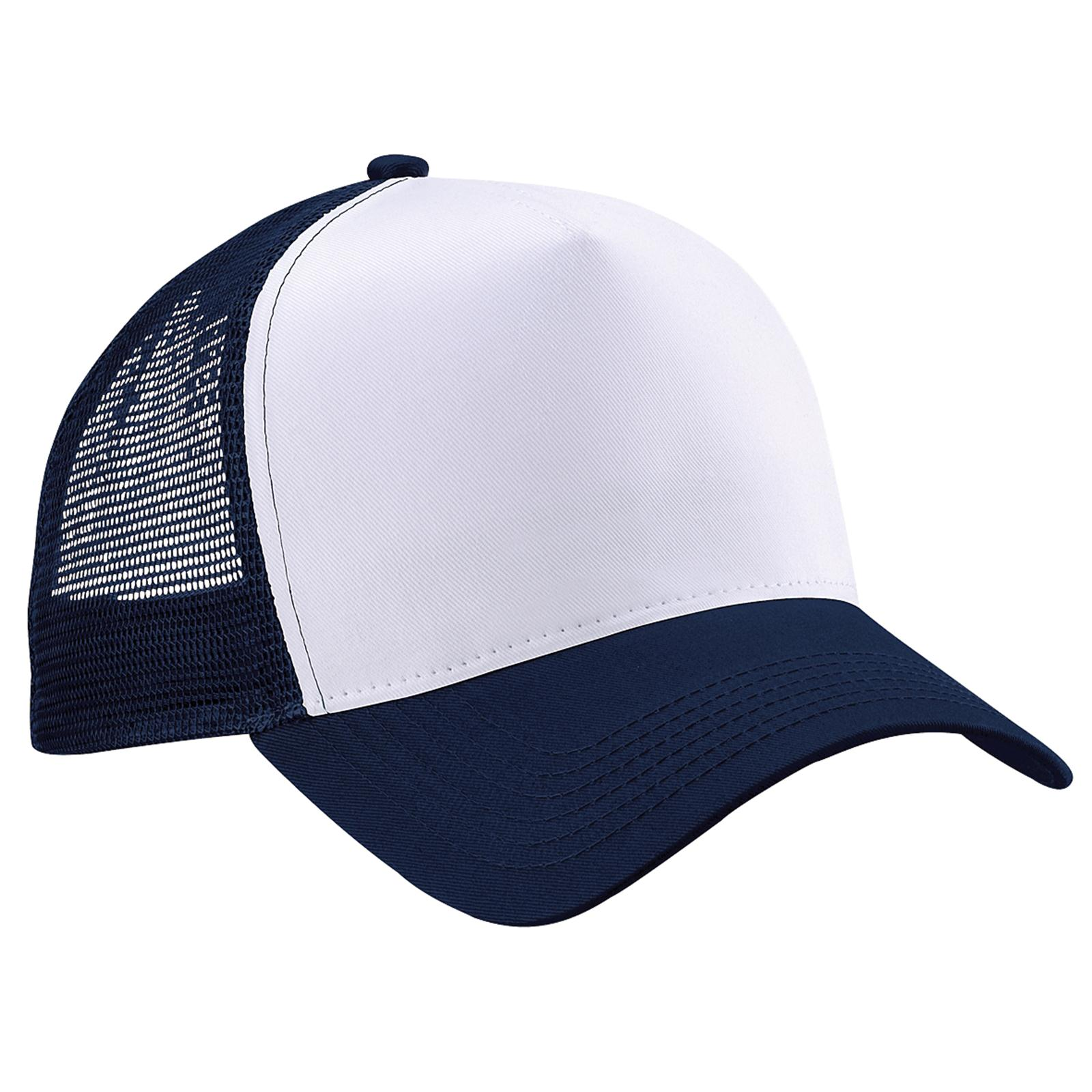new beechfield half mesh trucker baseball cap hat in 8 colours one size ebay. Black Bedroom Furniture Sets. Home Design Ideas