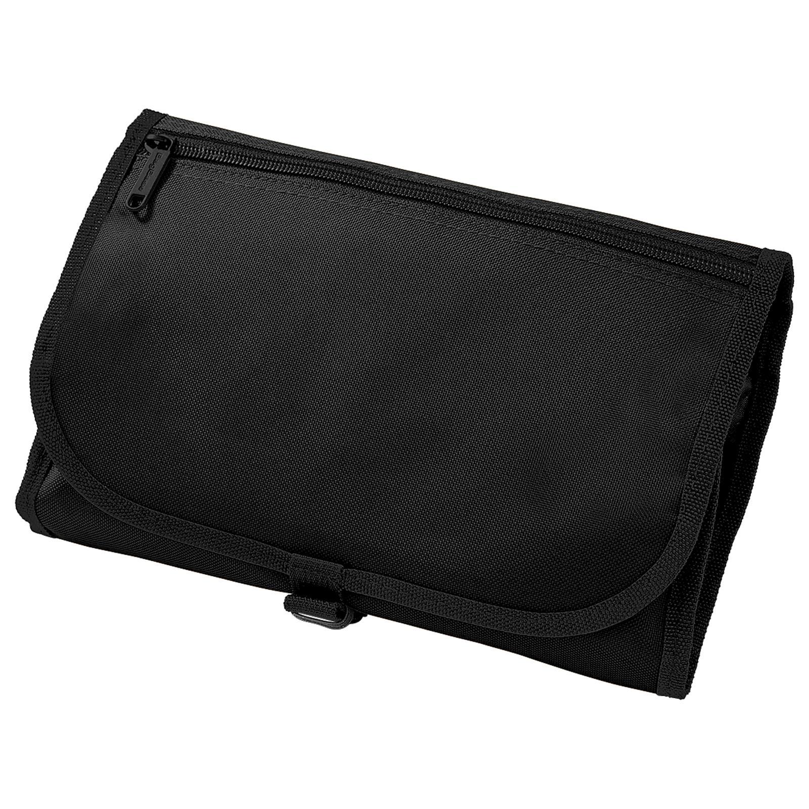 New Bagbase Mens Travel Mirror Wash Toiletry Bag In Black
