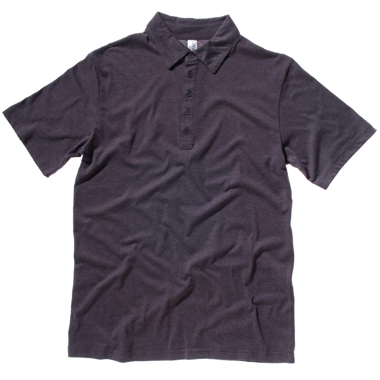 New bella canvas mens chic polycotton 5 button polo shirt for No button polo shirts
