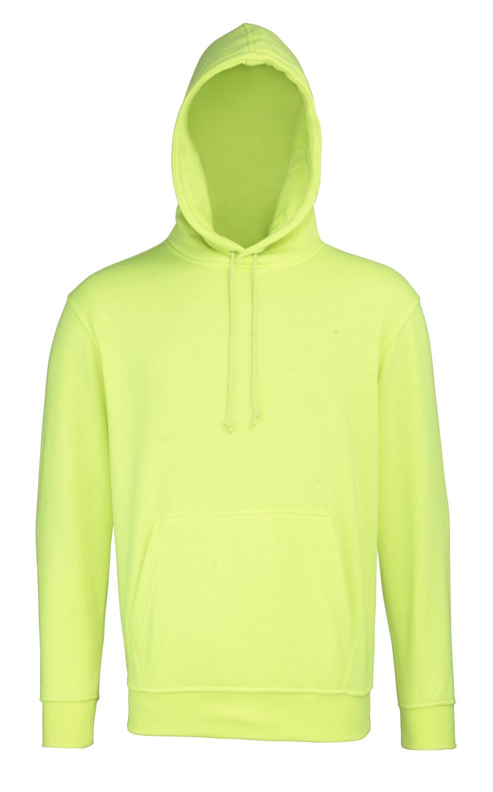 New RTY Mens Work Safety Hi Viz Hoodie Sweatshirt in Bright Yellow