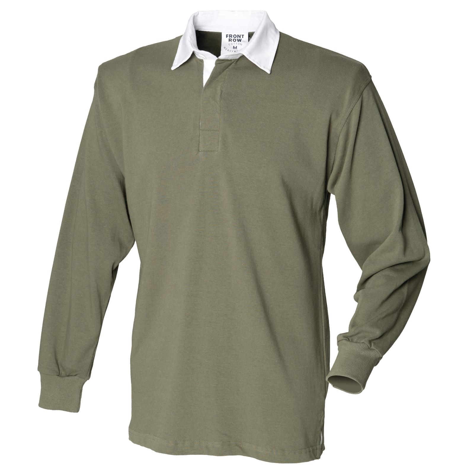 New Front Row Mens Casual Long Sleeve Rugby Style Shirt In