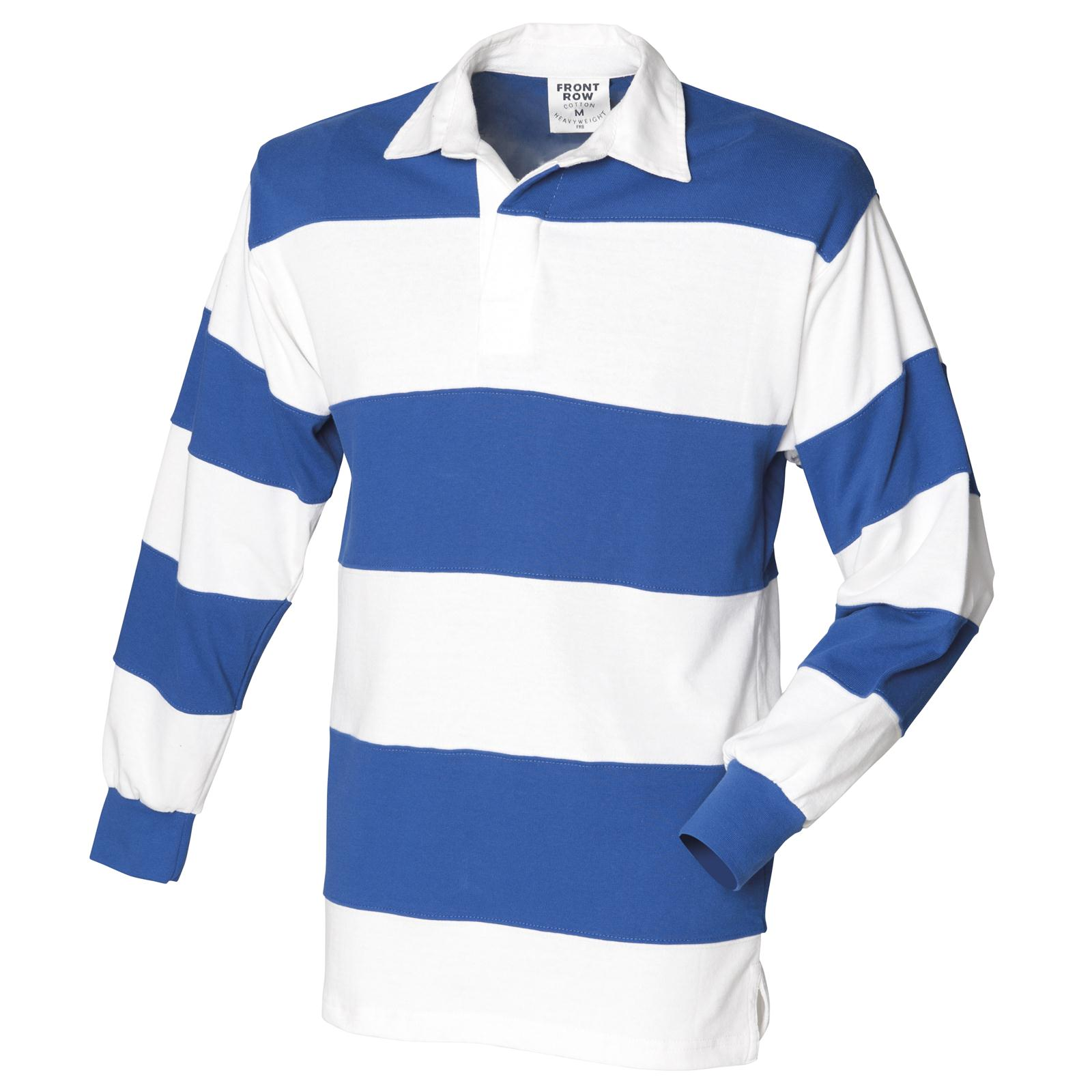 New Front Row Mens Sewn Stripe Long Sleeve Rugby Style
