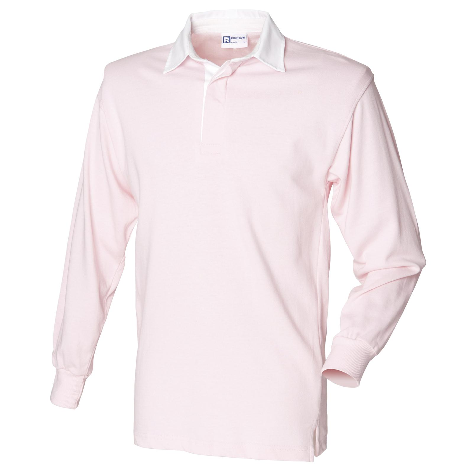 New Front Row Mens Casual Long Sleeve Classic Rugby Style