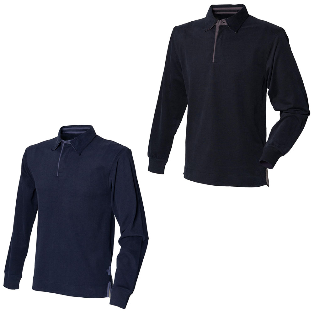 New Front Row Mens Super Soft Long Sleeve Rugby Style