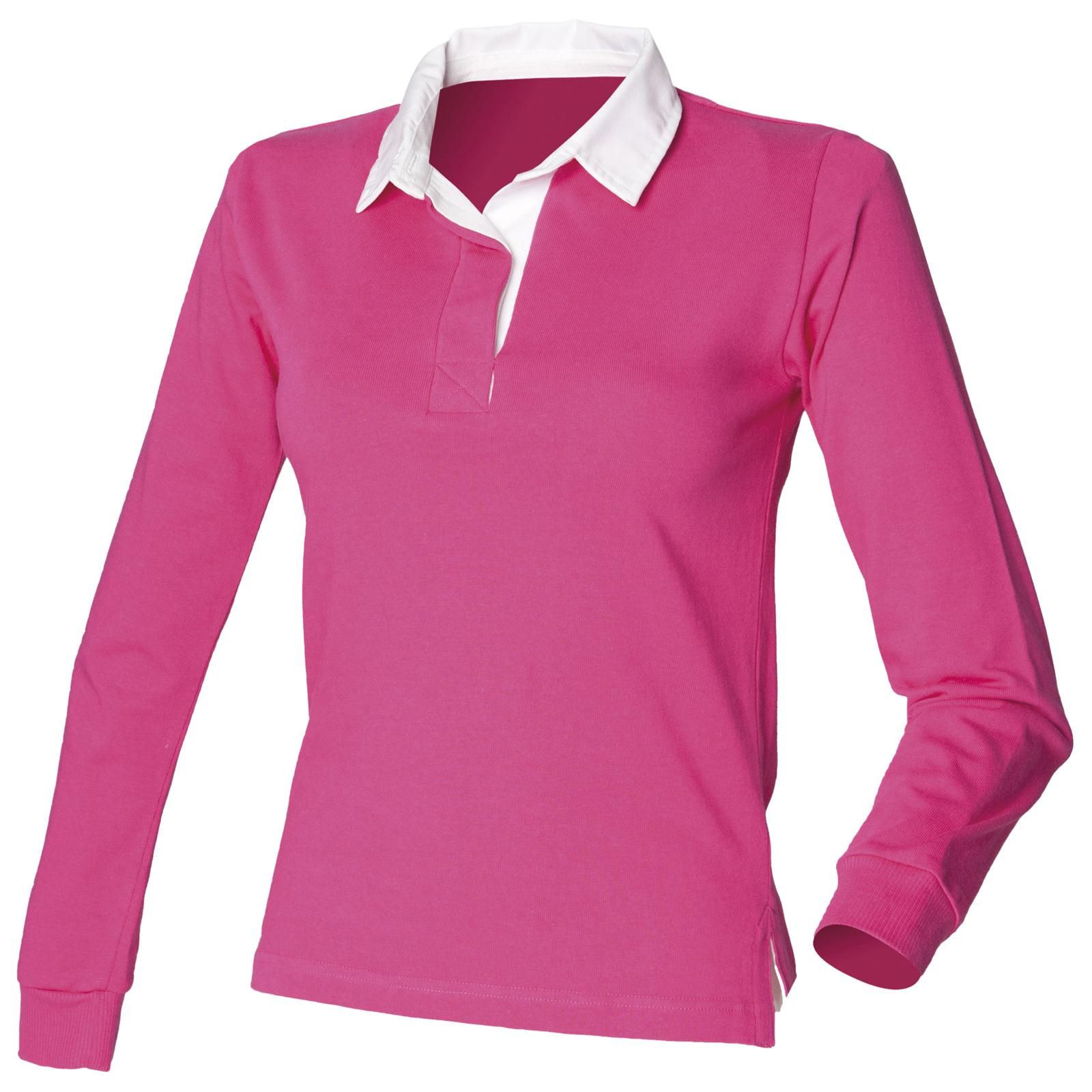 New Front Row Womens Ladies Long Sleeve Classic Rugby