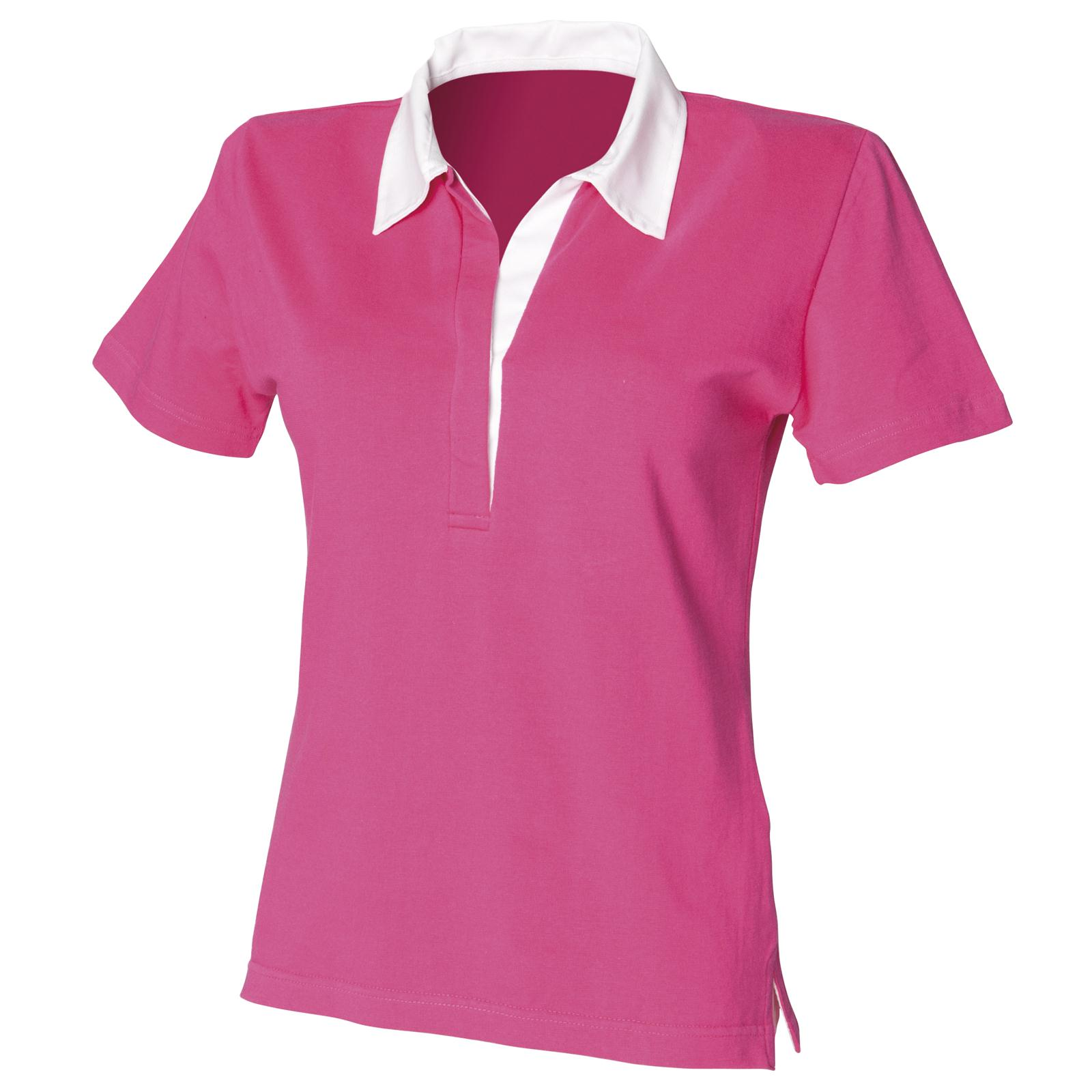 New Front Row Womens Ladies Short Sleeve Fitted Rugby