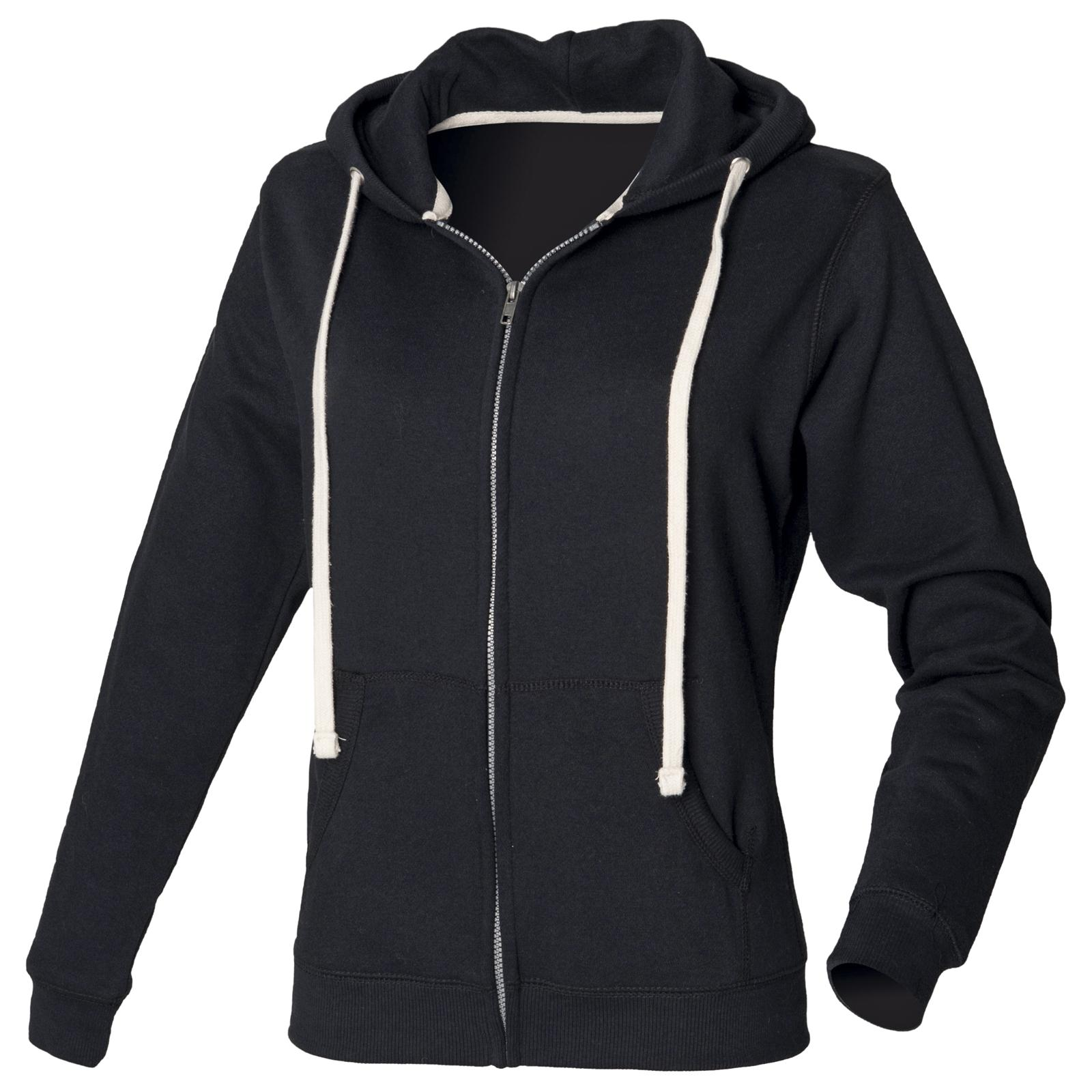 New FRONT ROW Womens Ladies Heavyweight Zip Up Hoodie ...