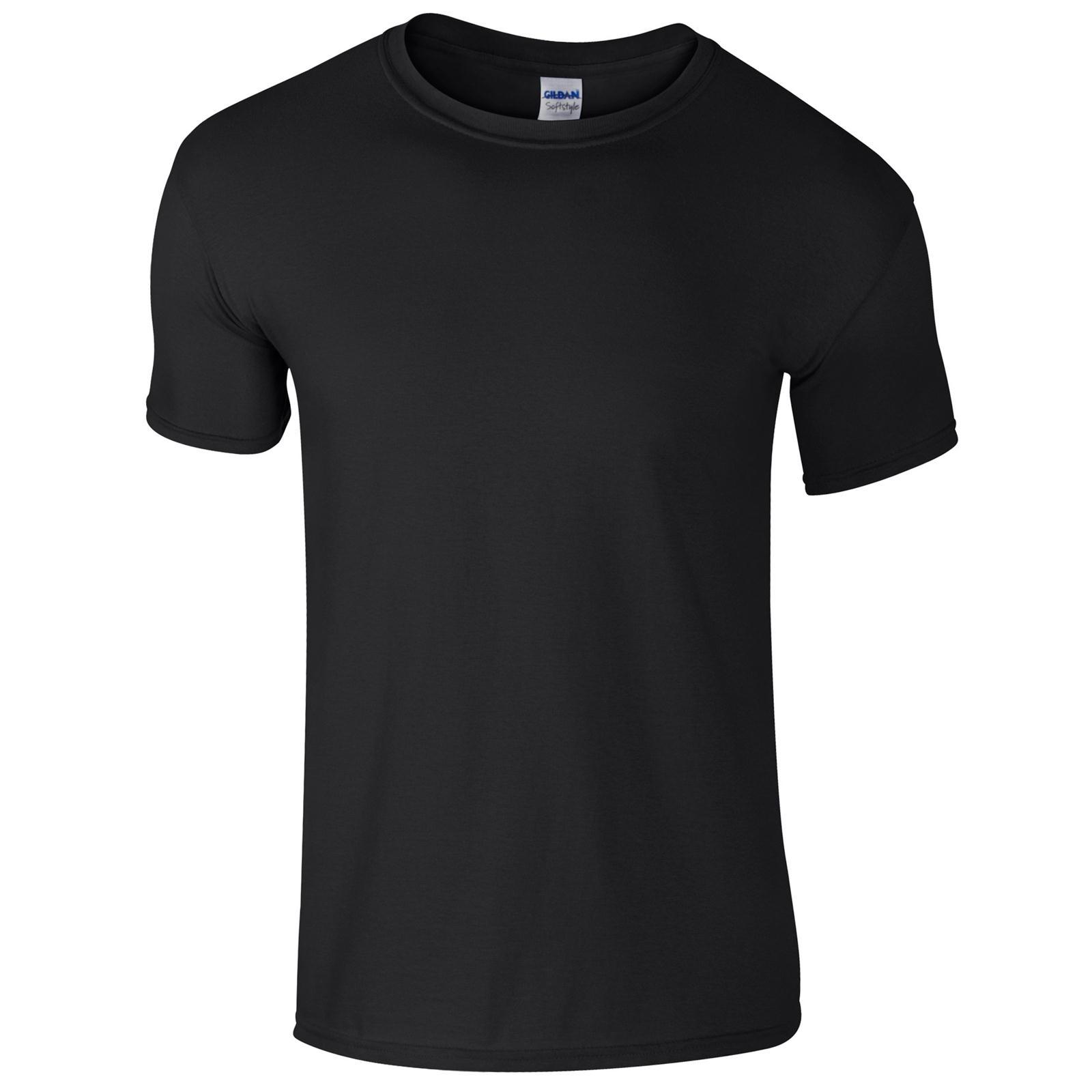 Black t shirt unisex - New Gildan Unisex Adults Soft Style Cotton Crew