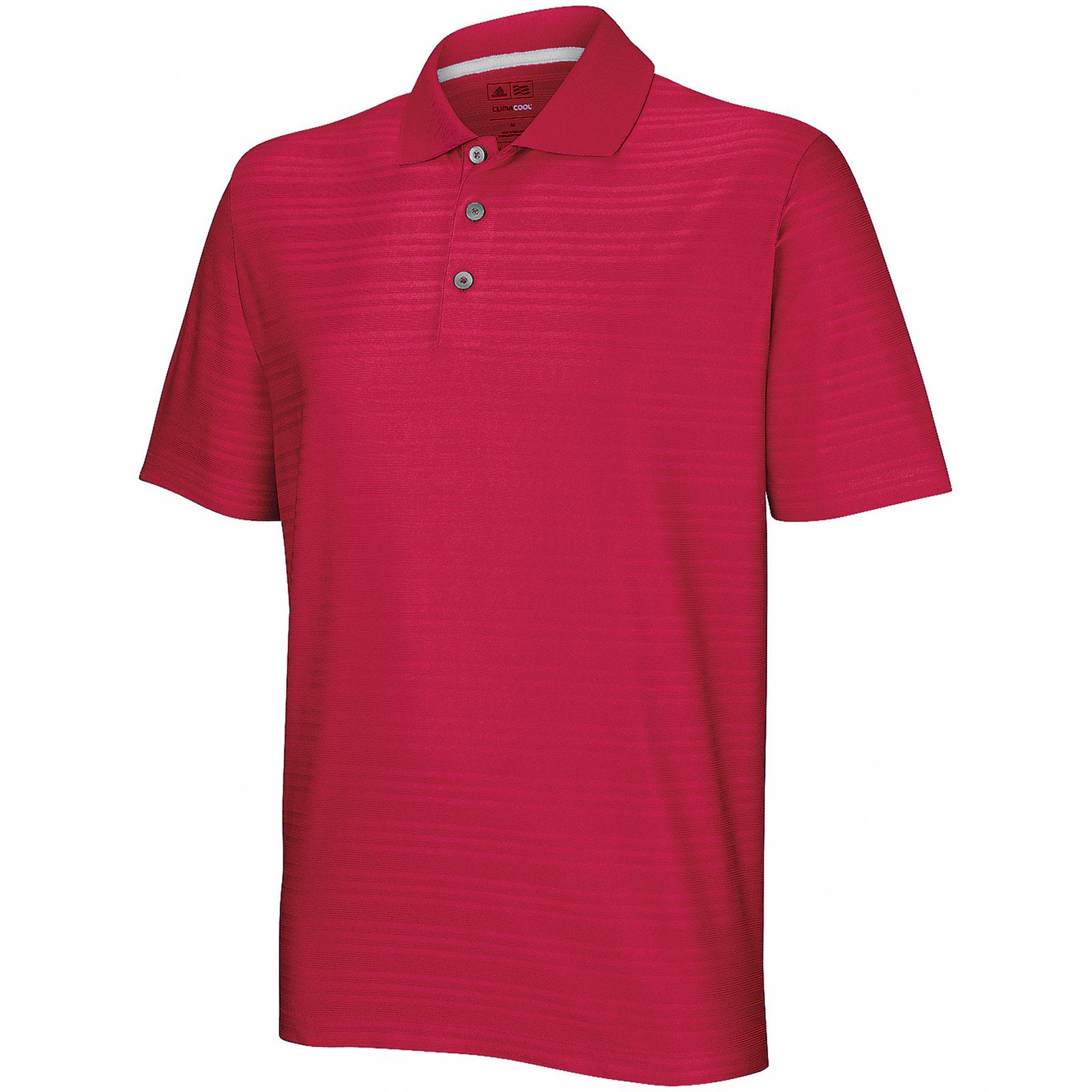 New Adidas Golf Mens Sports Climacool Textured Solid Polo