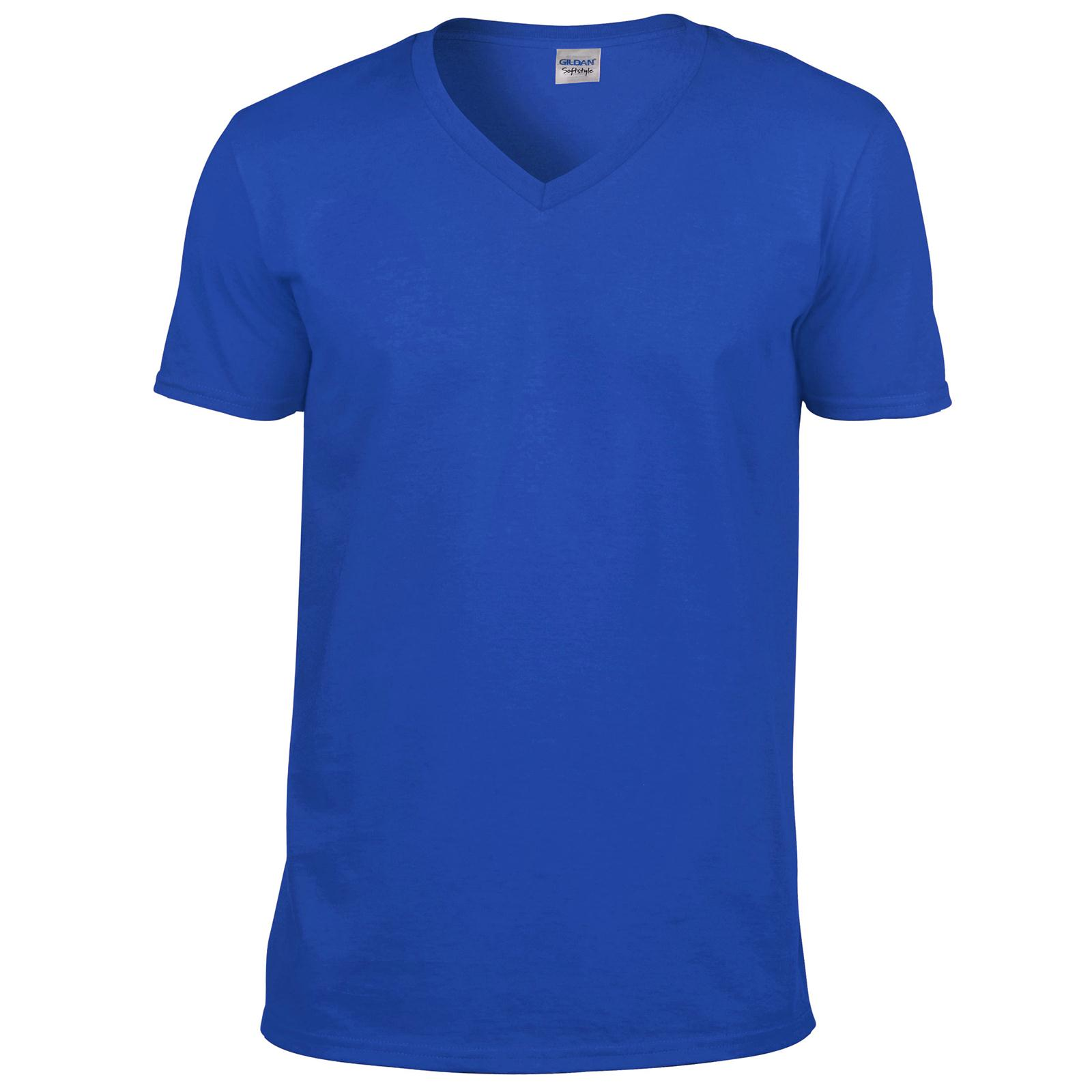 New gildan unisex adults soft style v neck t shirt in 6 for Gildan v neck t shirts for men