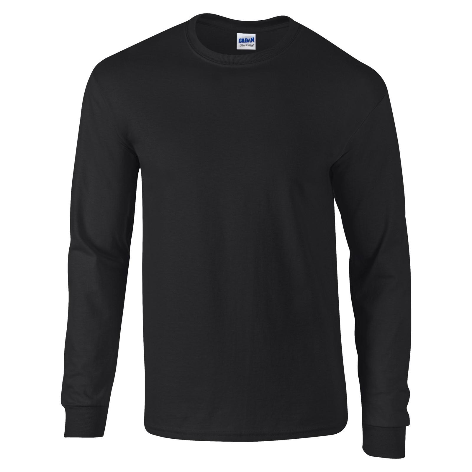 New gildan unisex adults ultra cotton long sleeve crew t for Best full sleeve t shirts