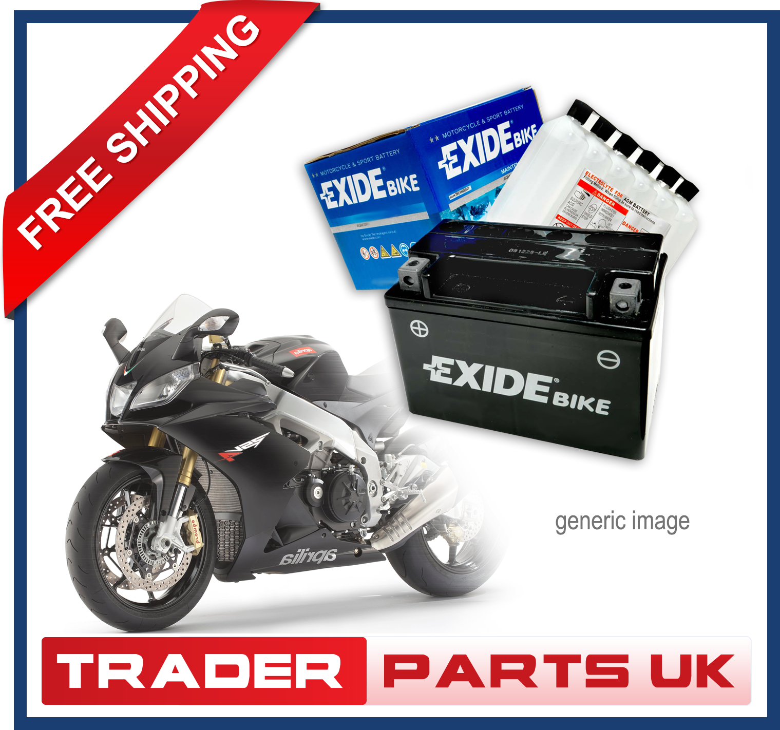 HONDA 700 MUV 700 Big Red 2008-2011 Exide ATV&Utility Battery YTX14-BS