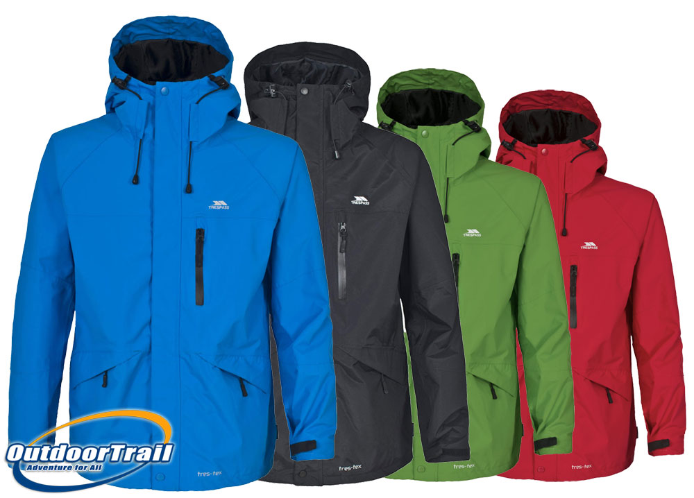 Trespass Corvo Mens Waterproof Windproof Walking Jacket Hiking ...