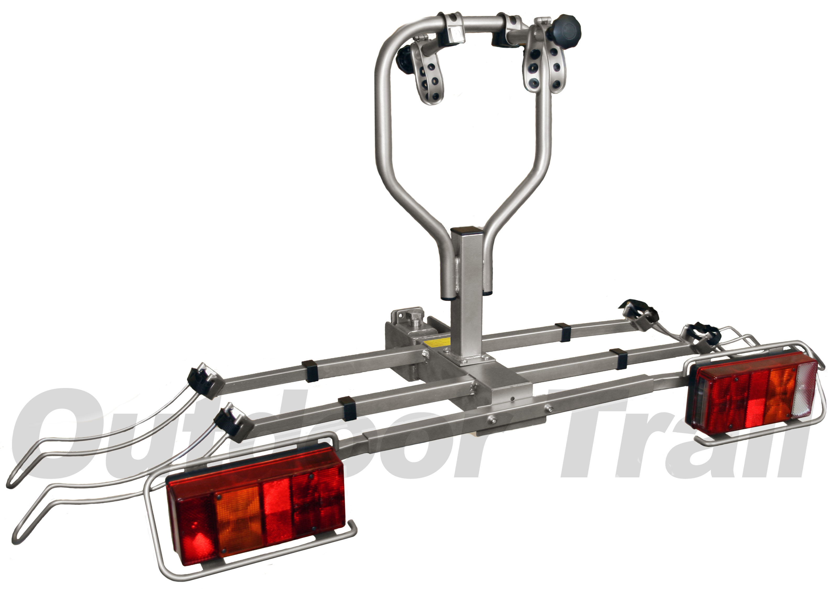 Towbar Mounted 2 Cycle Tiltable Bike Rack Carrier With Lighting Board