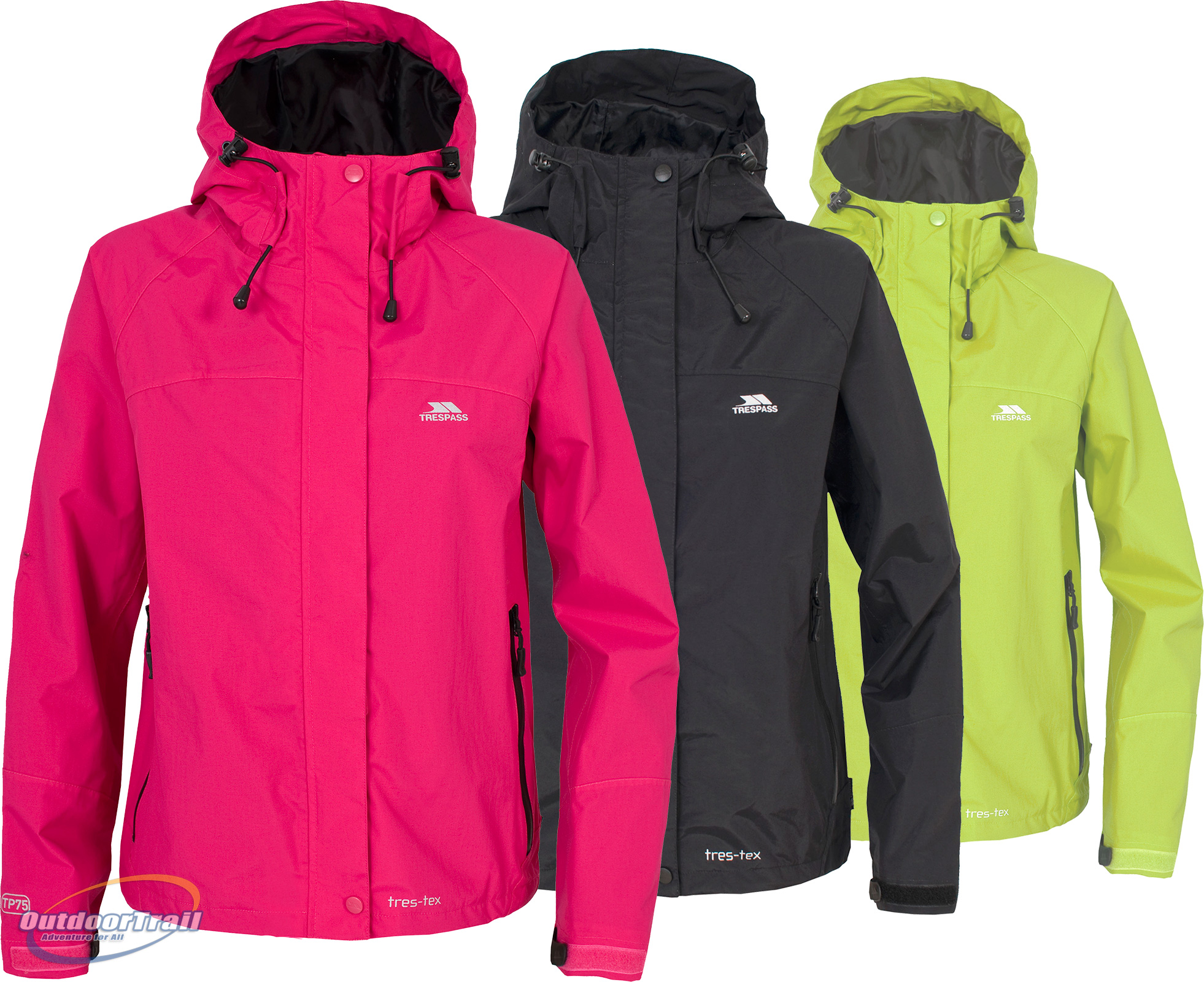Trespass Miyake Ladies Waterproof Windproof Breathable Walking Jacket